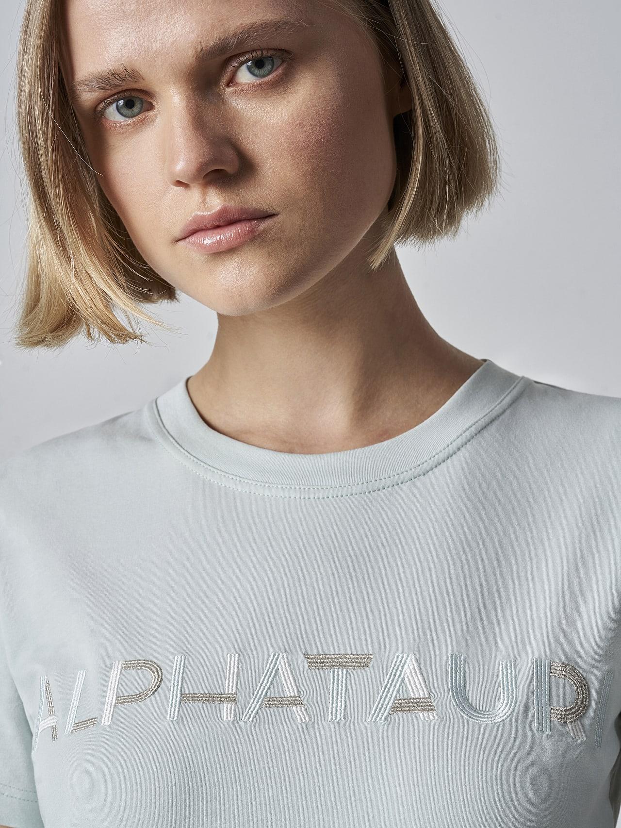 JOCTI V3.Y5.02 Logo T-Shirt Pale Blue  Right Alpha Tauri