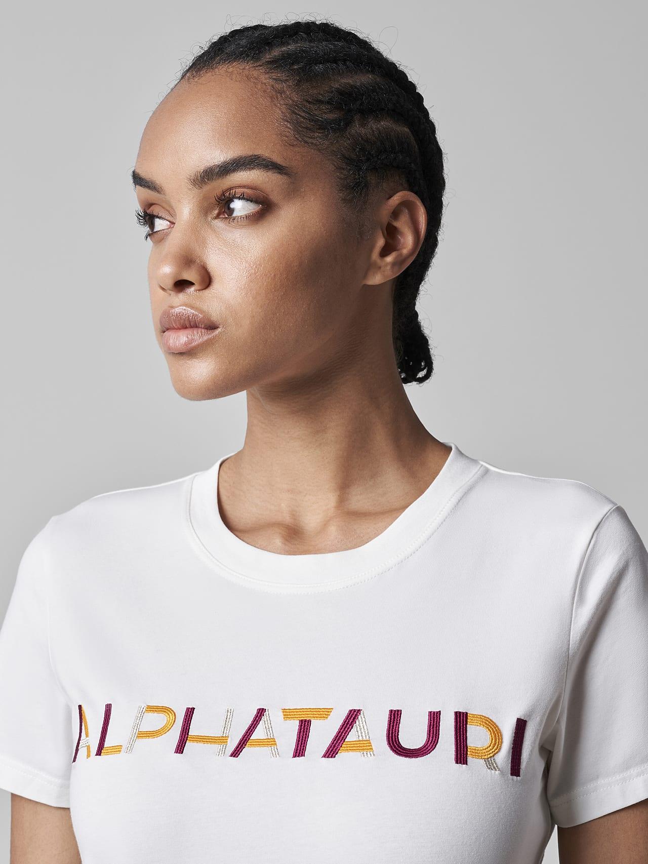 JOCTI V3.Y5.02 Logo T-Shirt offwhite Right Alpha Tauri