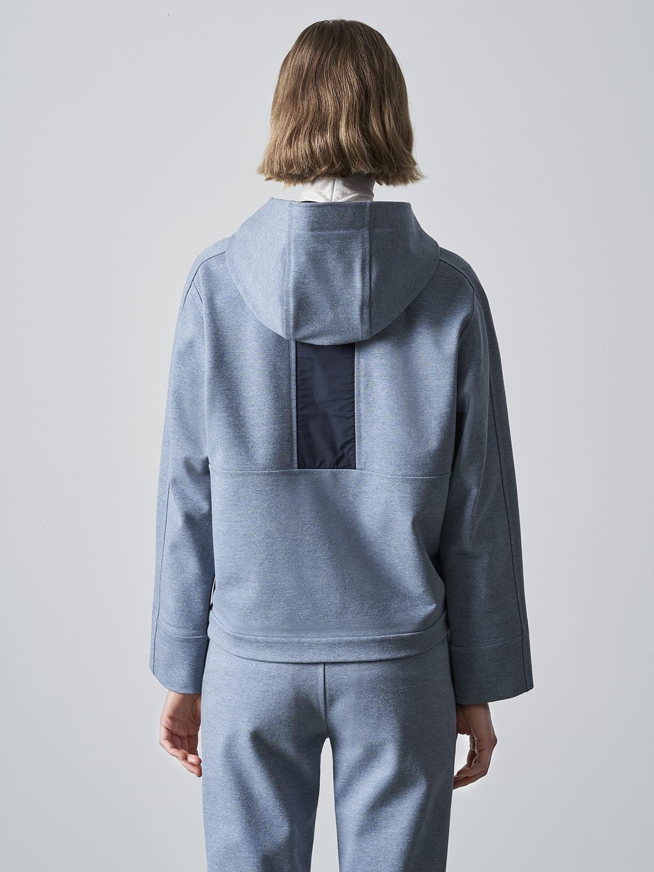 SINNO V2.Y5.02 Waterproof Hooded Jacket medium blue Front Main Alpha Tauri