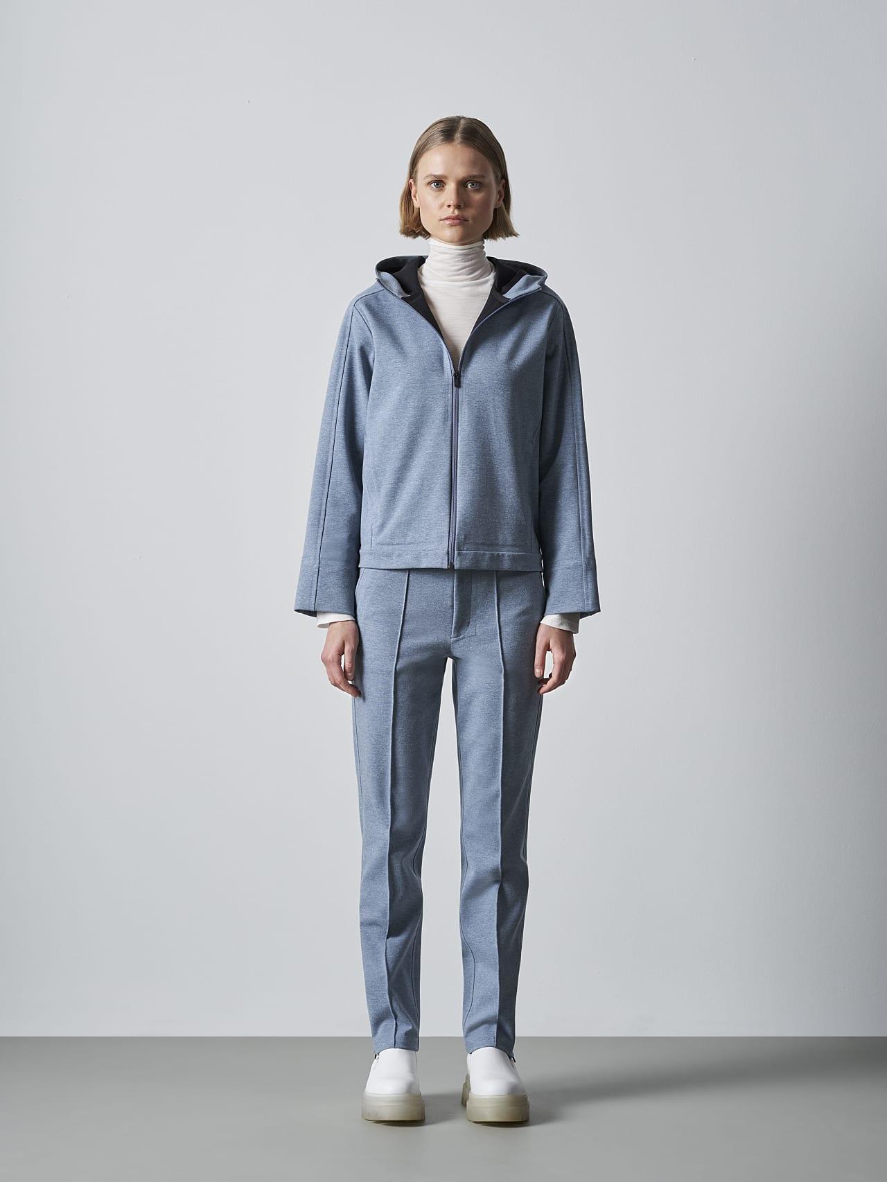 SINNO V2.Y5.02 Waterproof Hooded Jacket medium blue Front Alpha Tauri