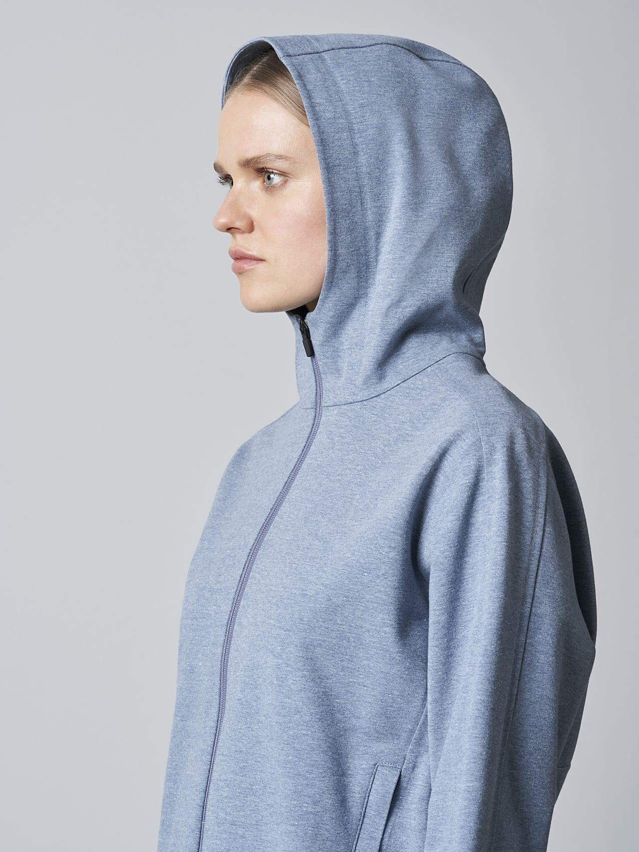 SINNO V2.Y5.02 Waterproof Hooded Jacket medium blue Right Alpha Tauri
