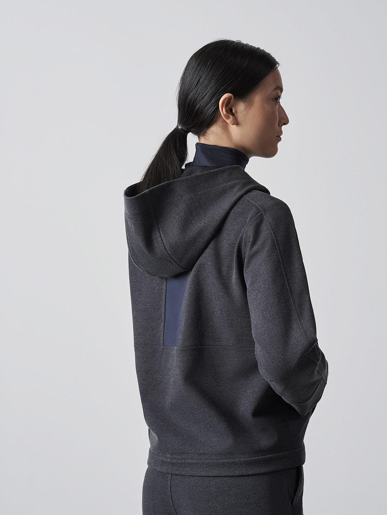 SINNO V2.Y5.02 Waterproof Hooded Jacket dark grey / anthracite Front Main Alpha Tauri
