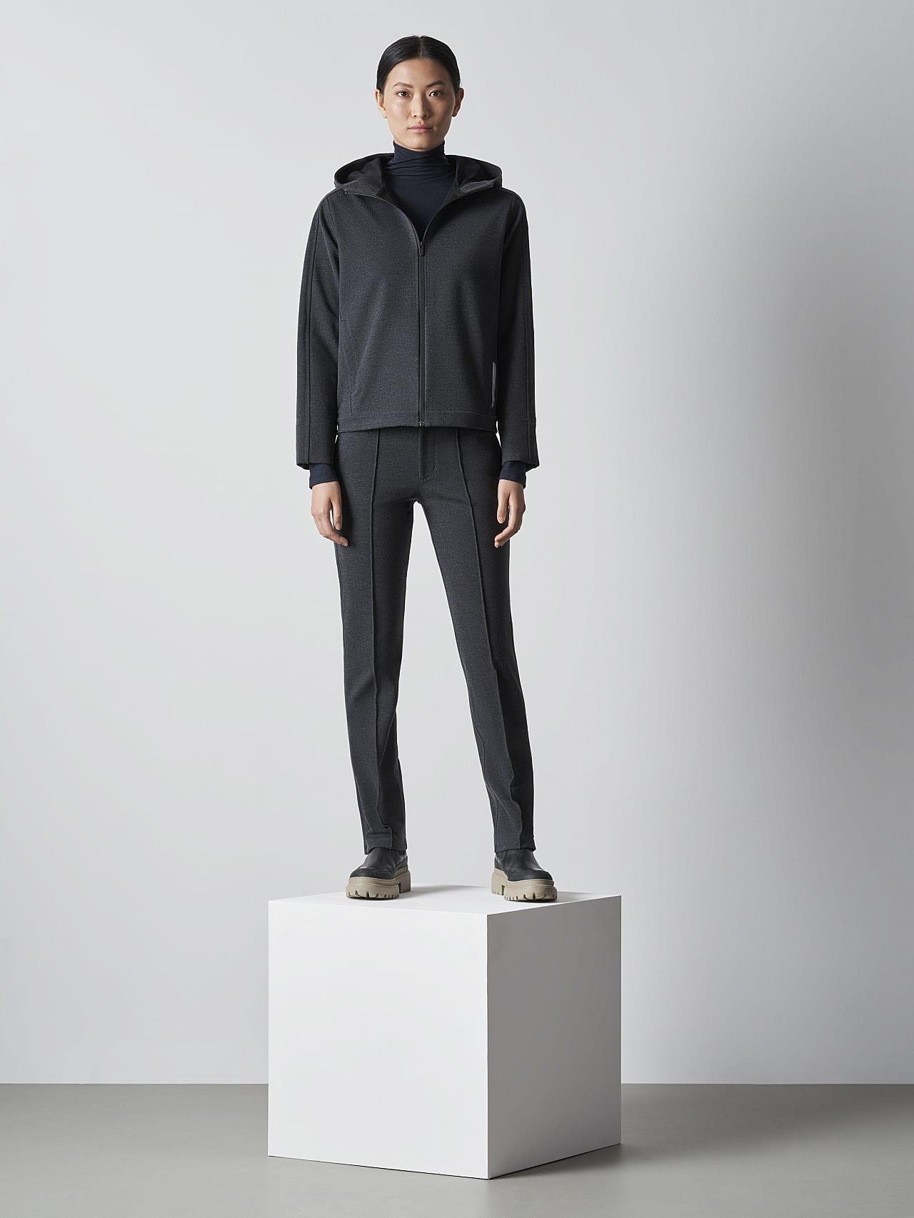 SINNO V2.Y5.02 Waterproof Hooded Jacket dark grey / anthracite Front Alpha Tauri