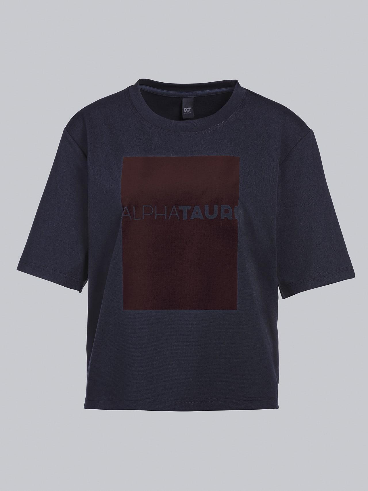 JASHU V1.Y5.02 Heavy-Weight Logo T-Shirt navy Back Alpha Tauri