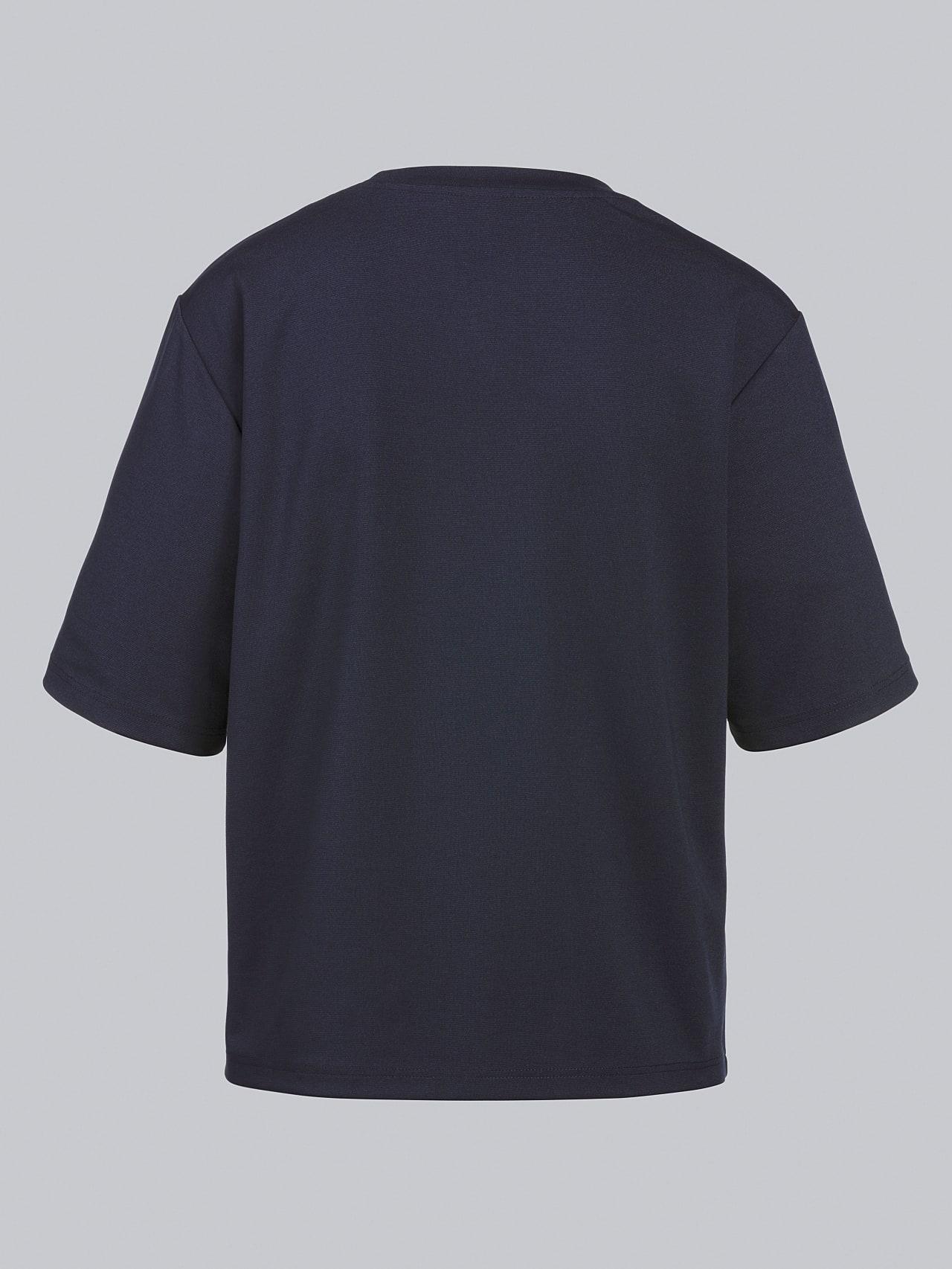 JASHU V1.Y5.02 Heavy-Weight Logo T-Shirt navy Left Alpha Tauri