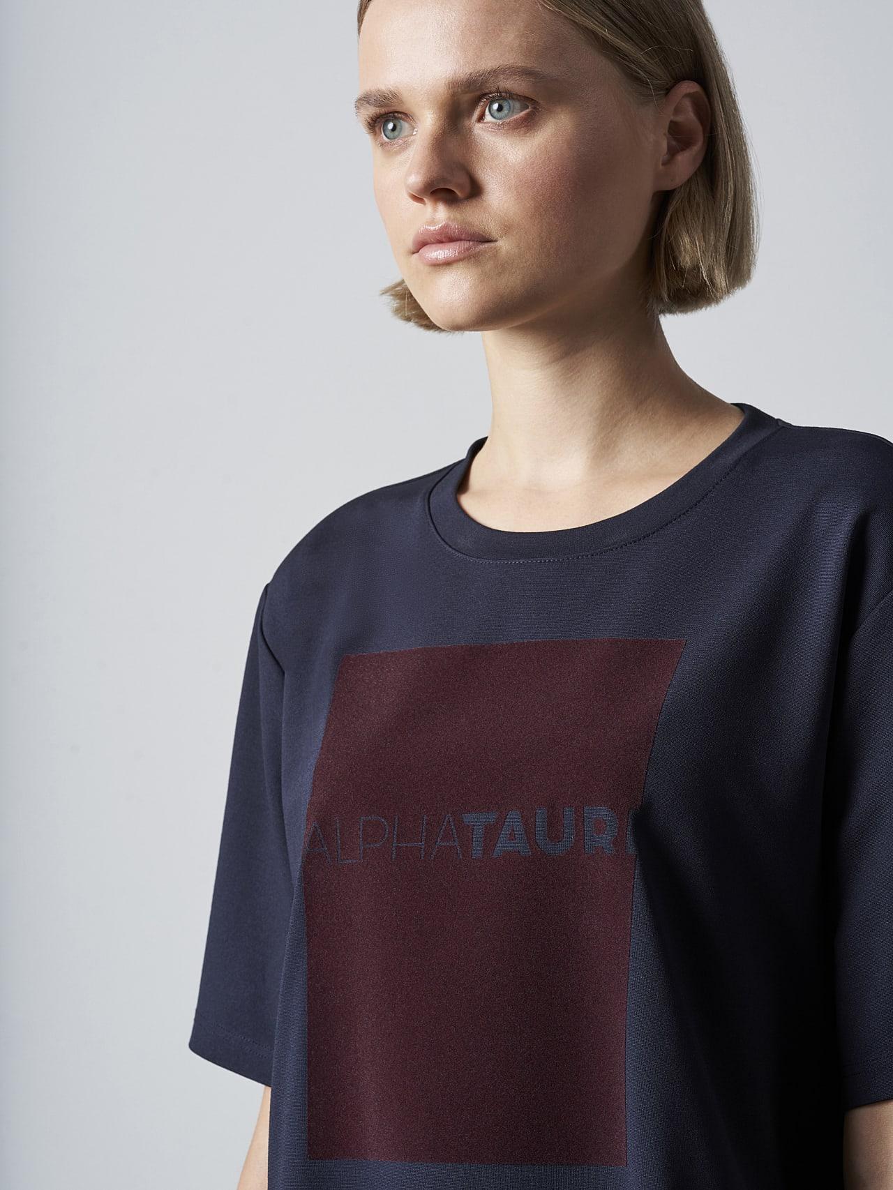 JASHU V1.Y5.02 Heavy-Weight Logo T-Shirt navy Right Alpha Tauri