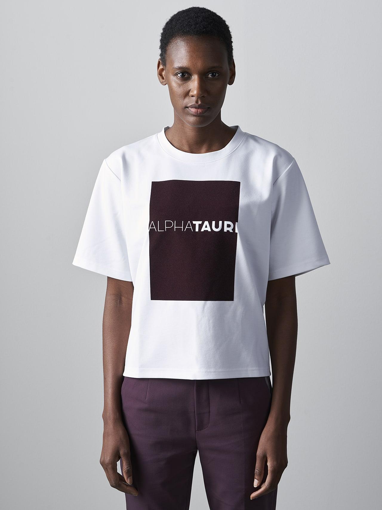 JASHU V1.Y5.02 Heavy-Weight Logo T-Shirt white Model shot Alpha Tauri