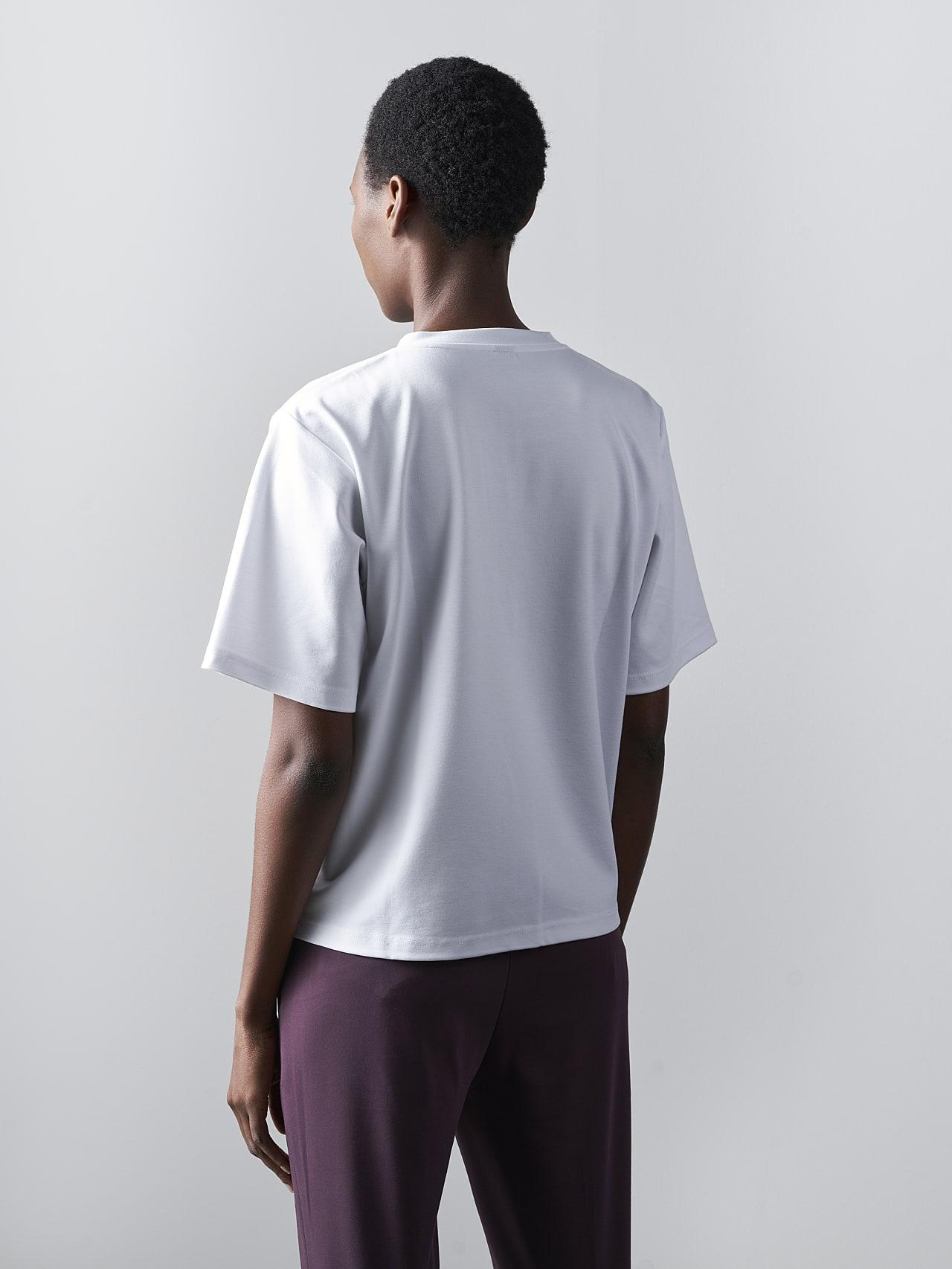 JASHU V1.Y5.02 Heavy-Weight Logo T-Shirt white Front Main Alpha Tauri