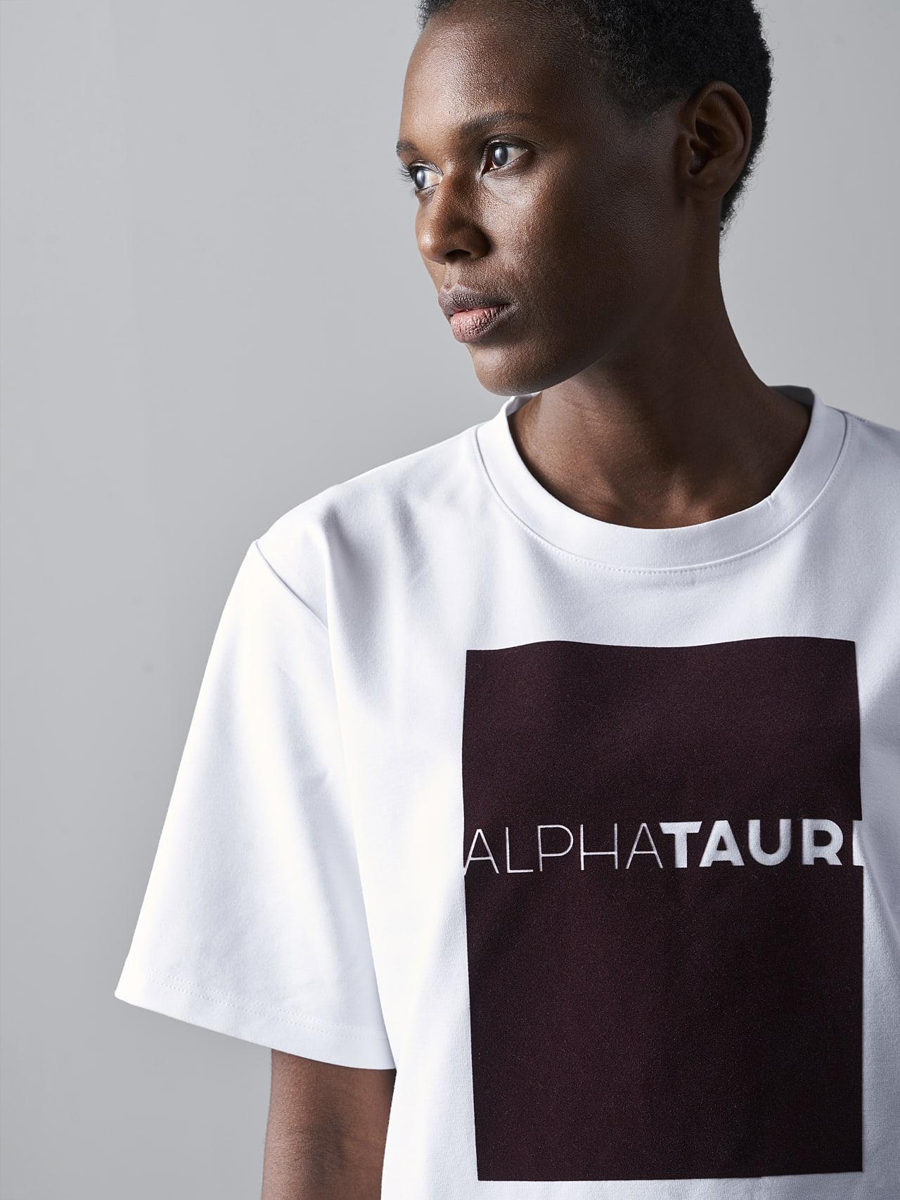 JASHU V1.Y5.02 Heavy-Weight Logo T-Shirt white Right Alpha Tauri