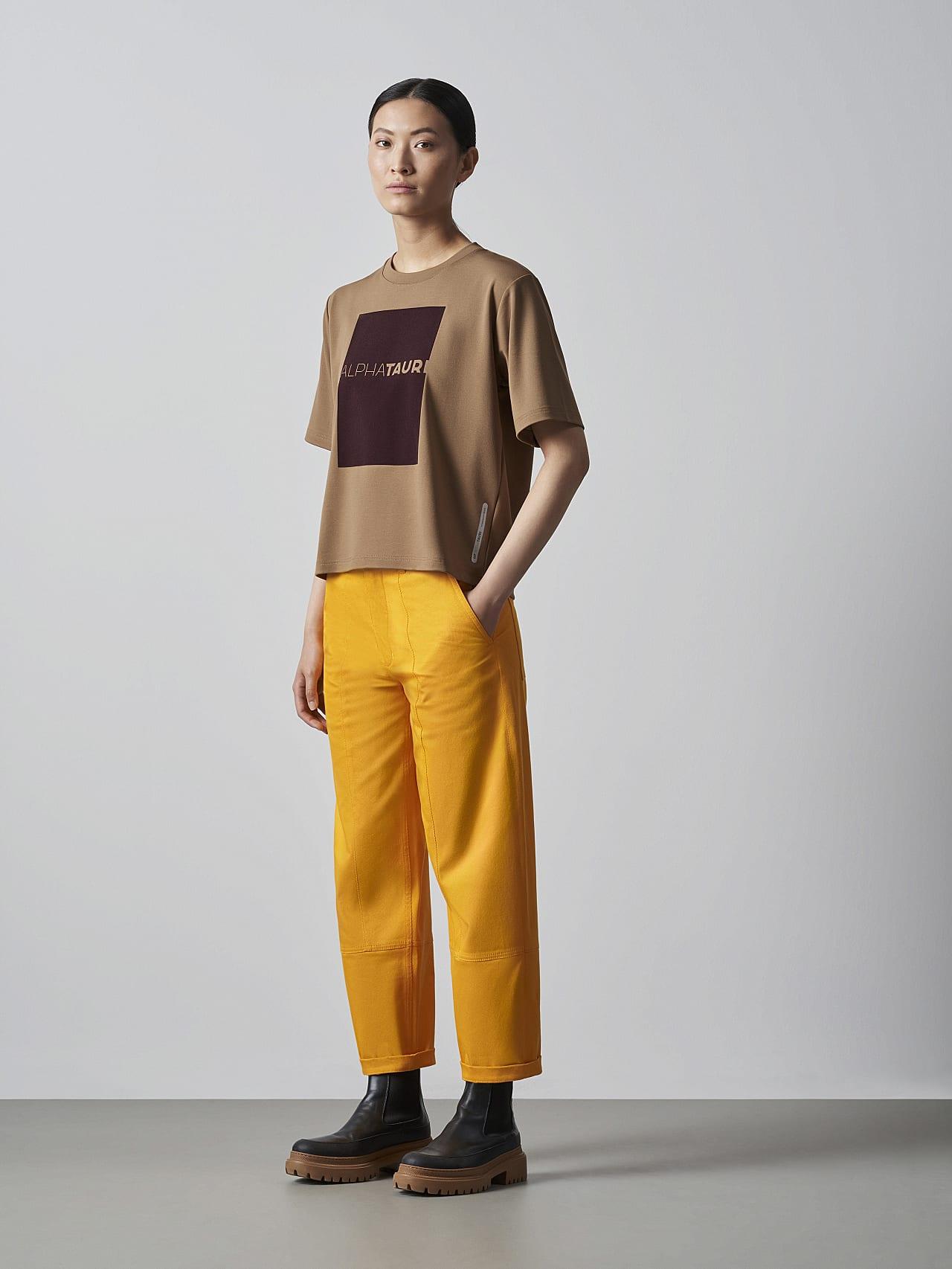 JASHU V1.Y5.02 Heavy-Weight Logo T-Shirt gold Front Alpha Tauri