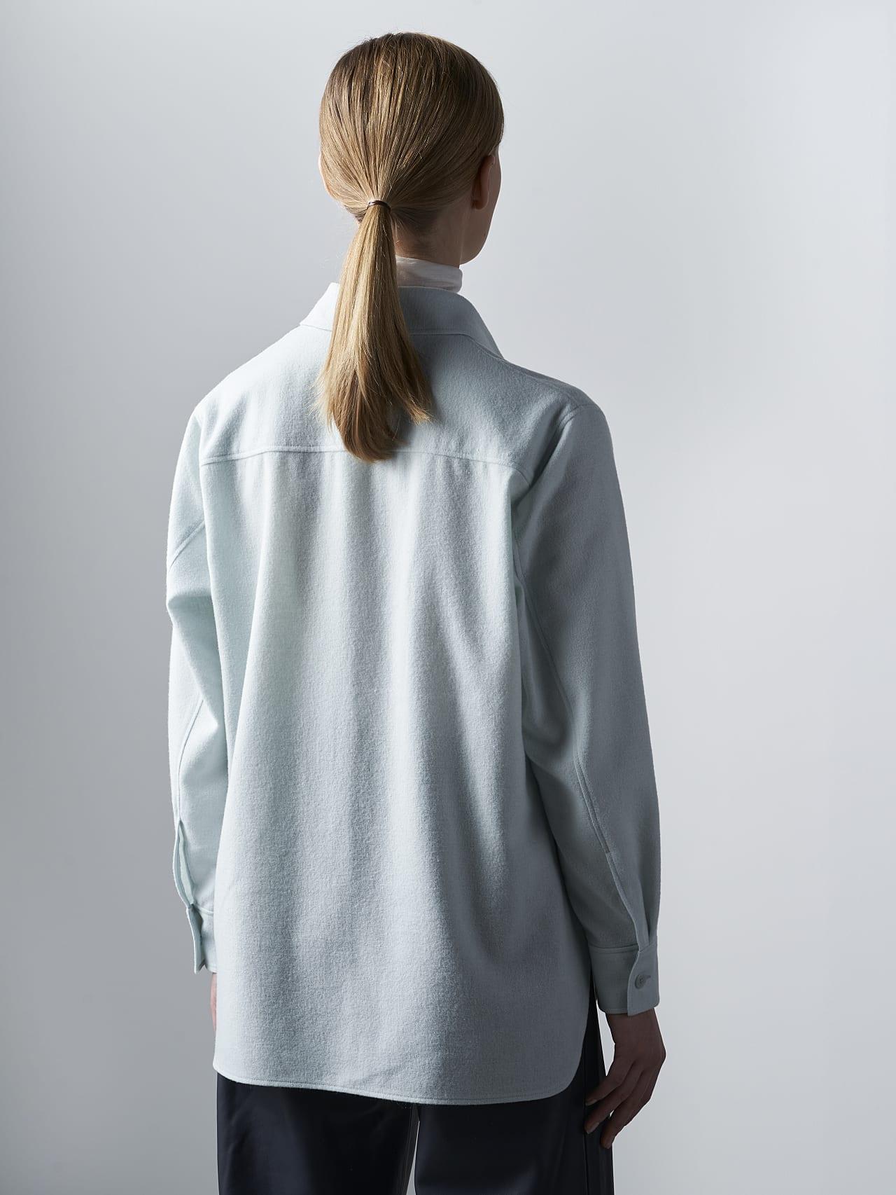 WOVIE V1.Y5.02 Wool Over-Shirt Pale Blue  Front Main Alpha Tauri
