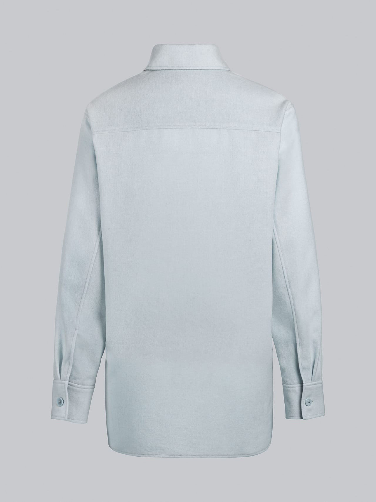 WOVIE V1.Y5.02 Wool Over-Shirt Pale Blue  Left Alpha Tauri