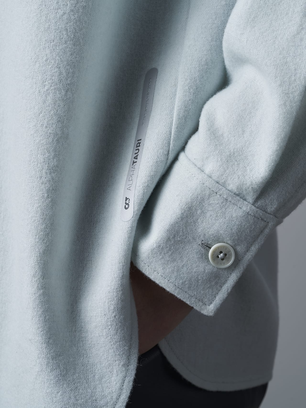 WOVIE V1.Y5.02 Wool Over-Shirt Pale Blue  Extra Alpha Tauri