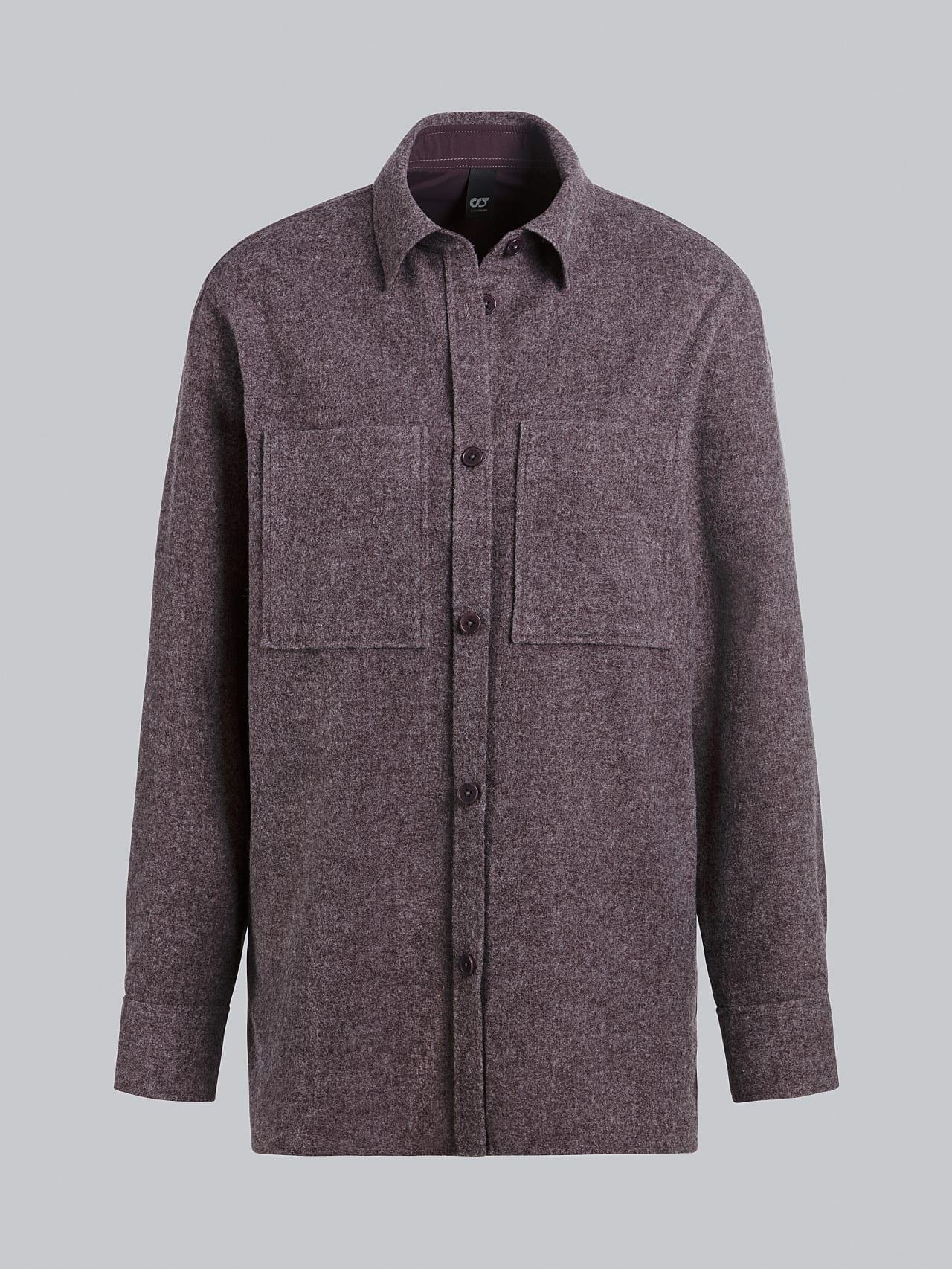 WOVIE V1.Y5.02 Wool Over-Shirt Burgundy Back Alpha Tauri