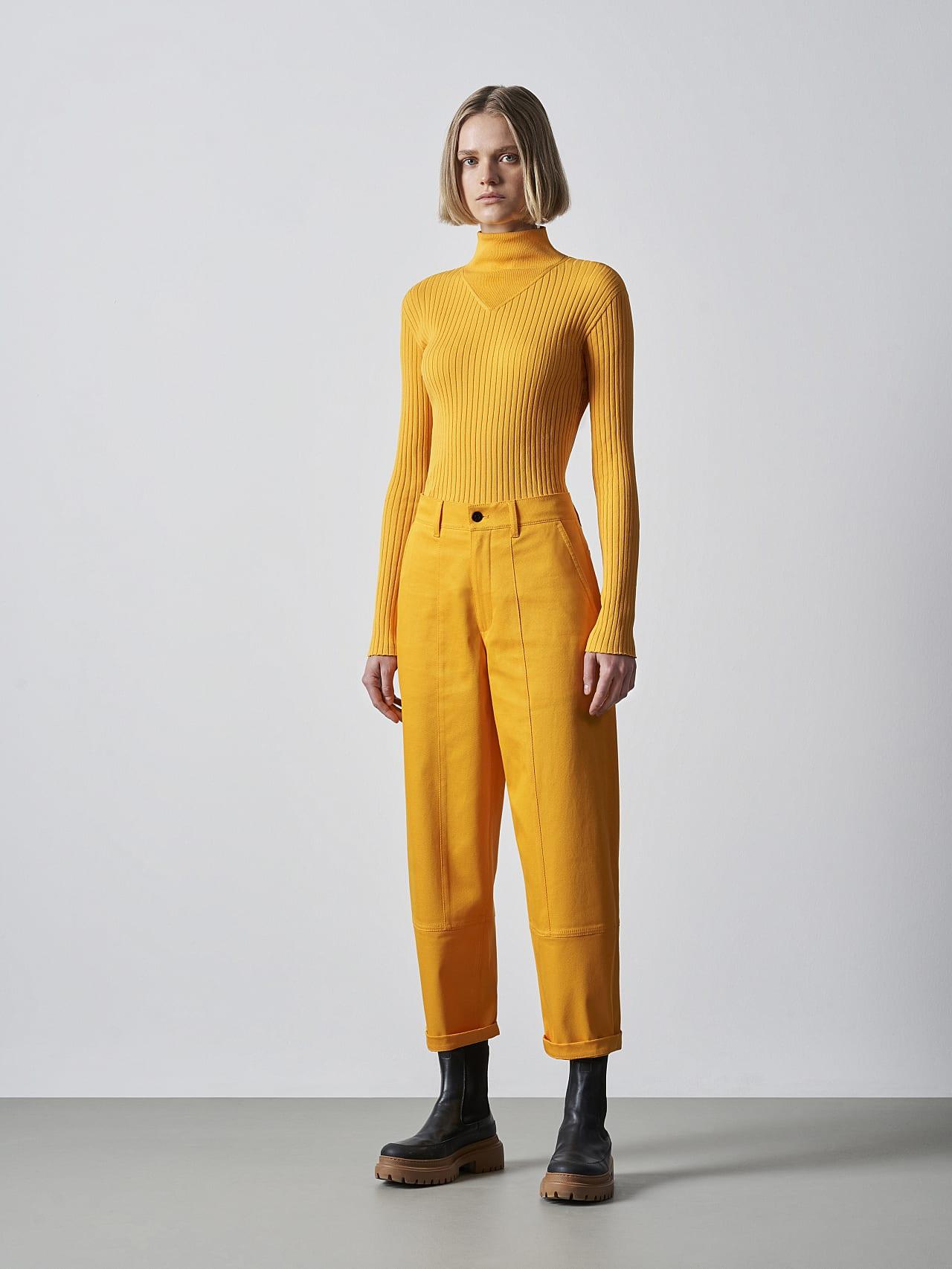 PCHAR V1.Y5.02 Tapered Barrel-Leg Pants yellow Front Alpha Tauri