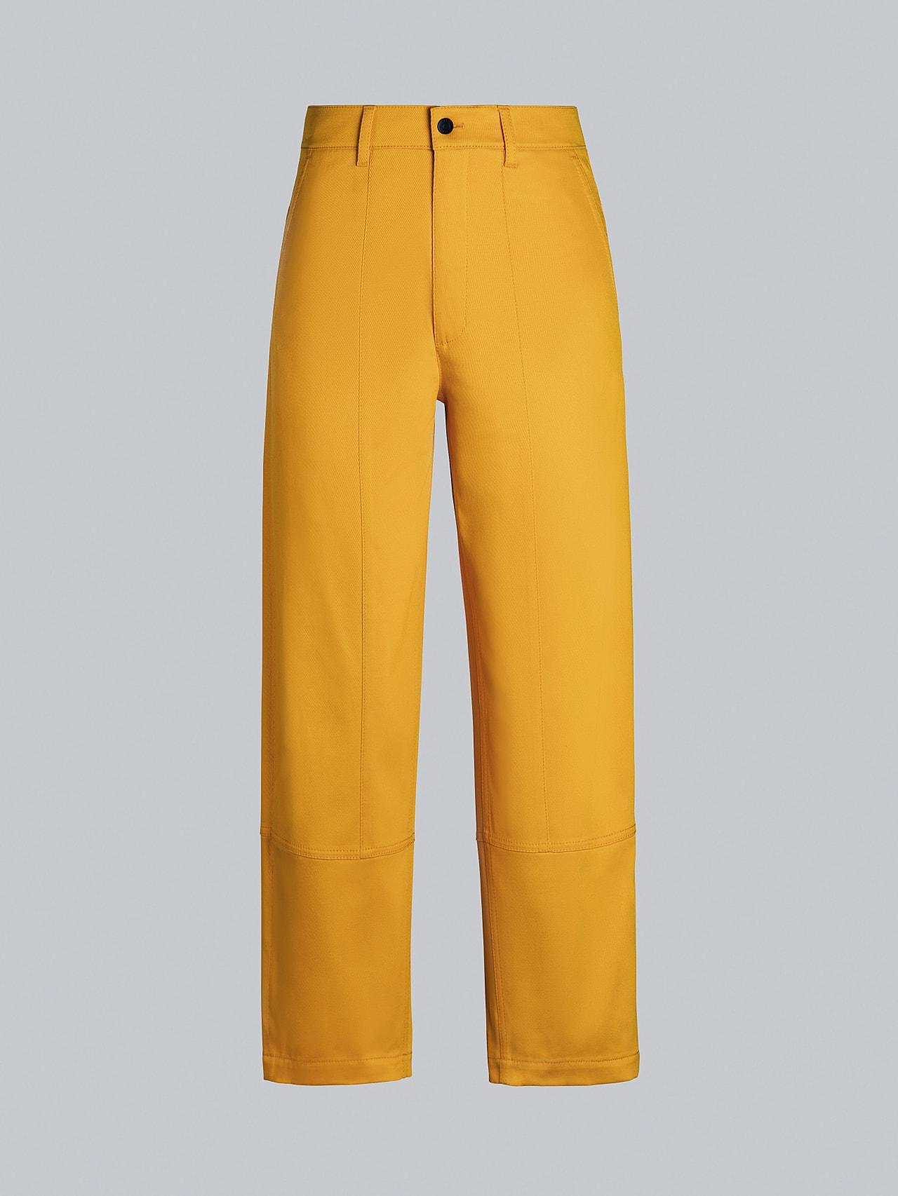PCHAR V1.Y5.02 Tapered Barrel-Leg Pants yellow Back Alpha Tauri