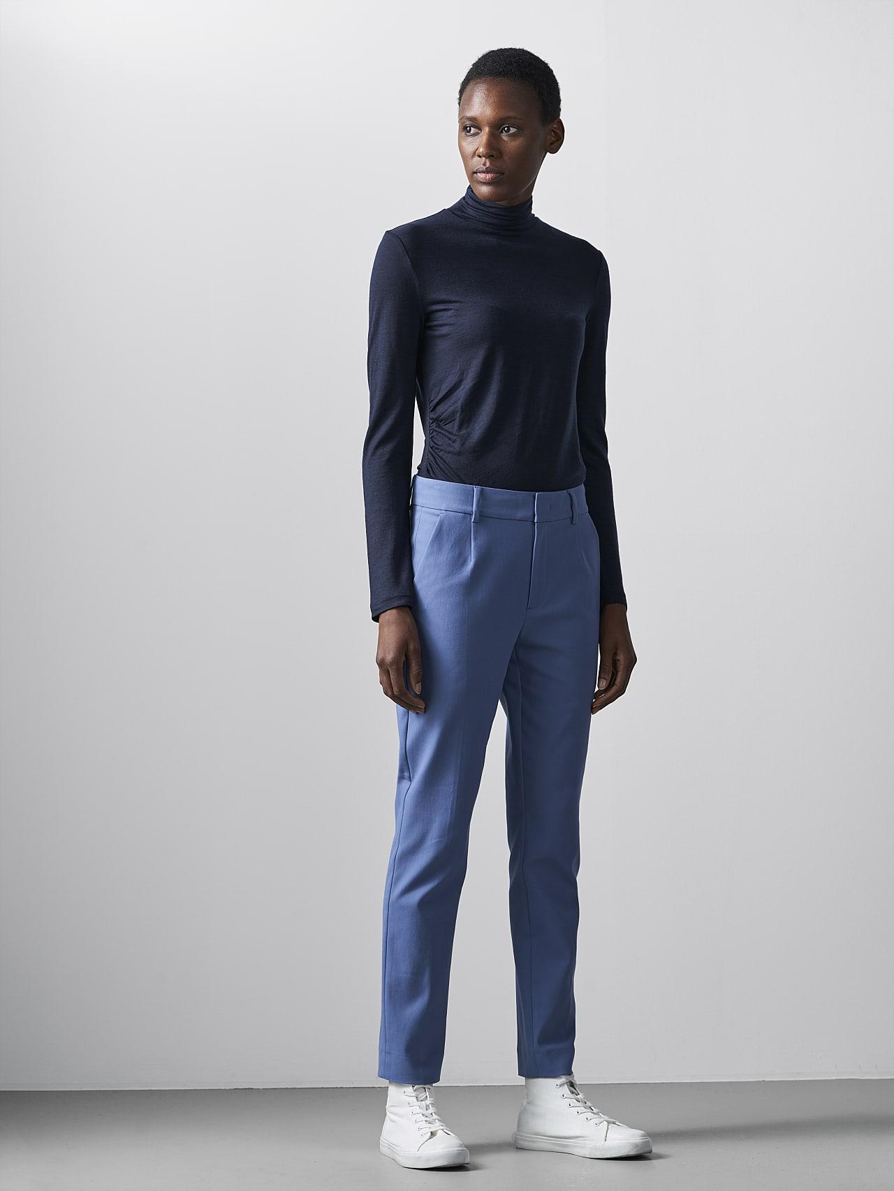 PERTI V1.Y5.02 Slim-Fit Tapered Pants light blue Front Alpha Tauri