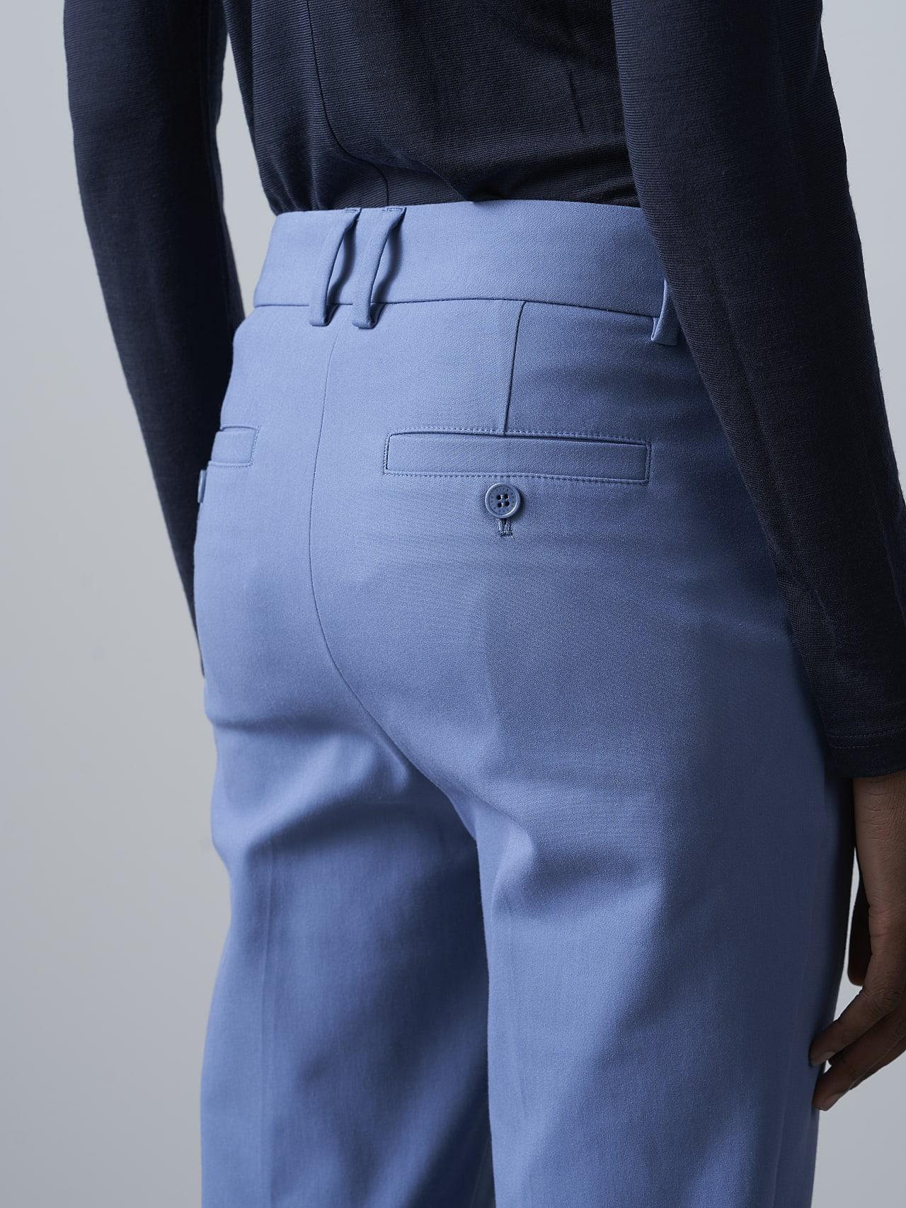 PERTI V1.Y5.02 Slim-Fit Tapered Pants light blue Right Alpha Tauri