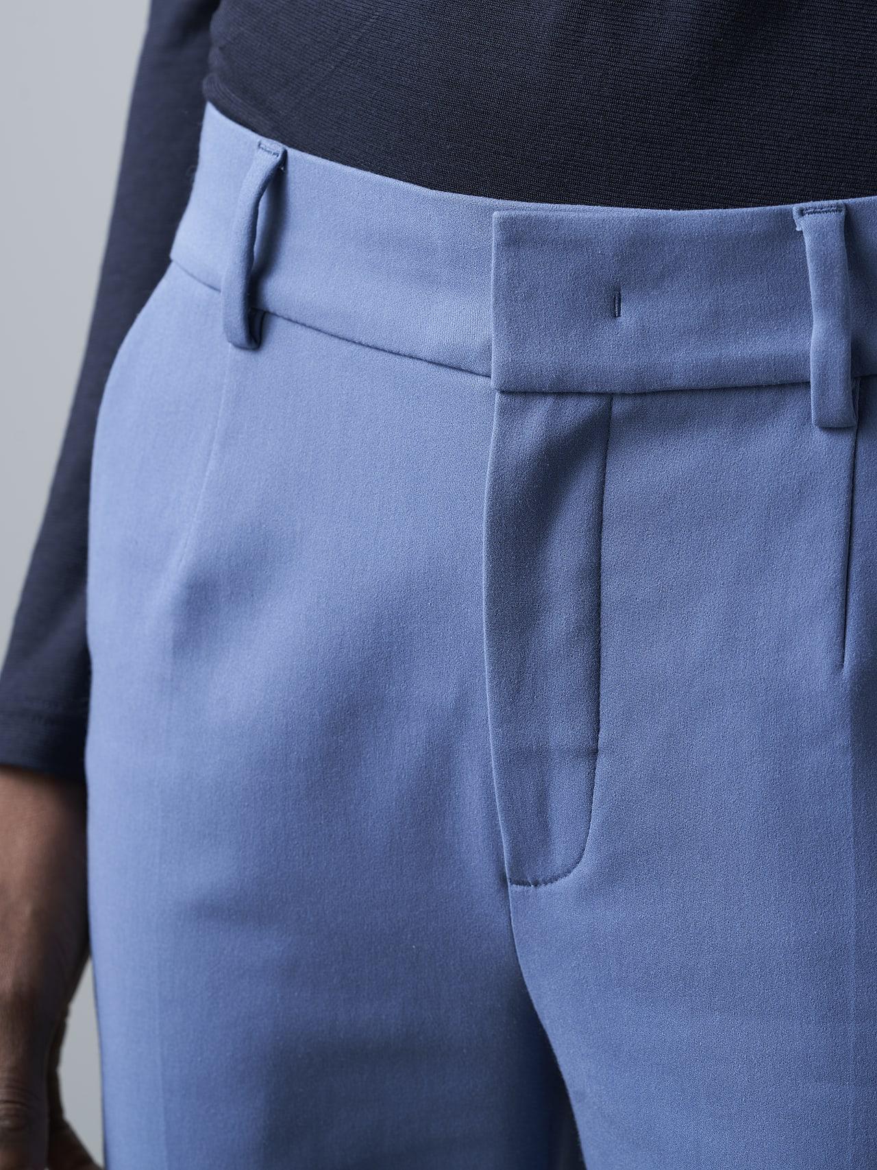 PERTI V1.Y5.02 Slim-Fit Tapered Pants light blue Extra Alpha Tauri
