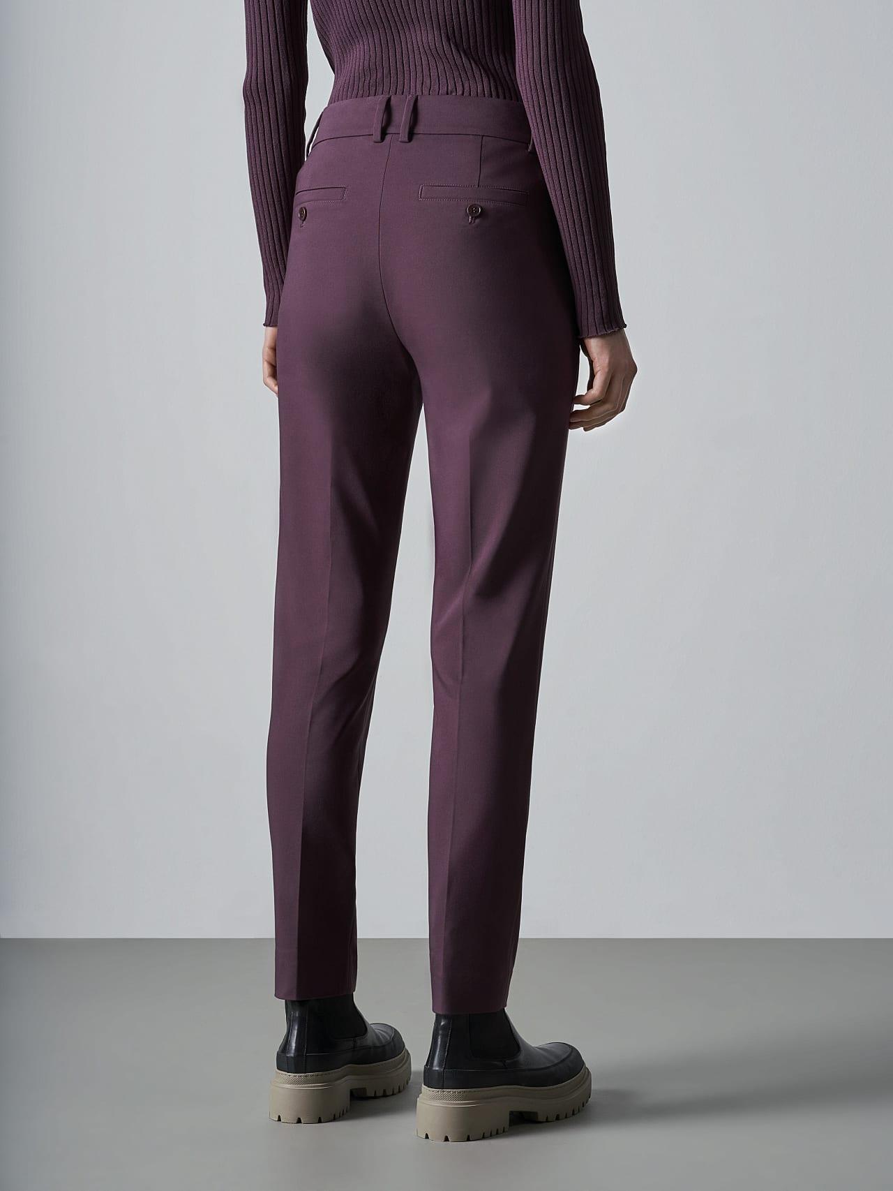 PERTI V1.Y5.02 Slim-Fit Tapered Pants Burgundy Front Main Alpha Tauri