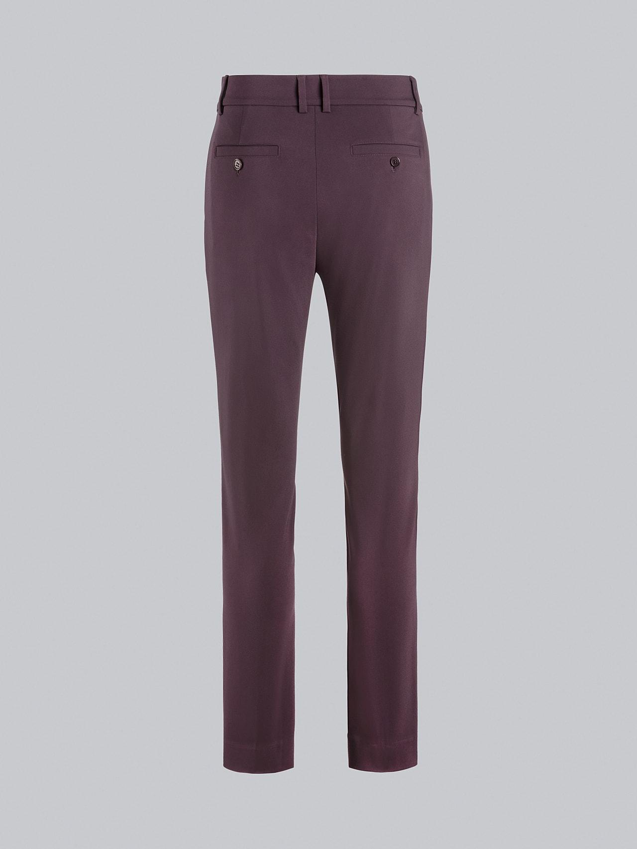 PERTI V1.Y5.02 Slim-Fit Tapered Pants Burgundy Left Alpha Tauri
