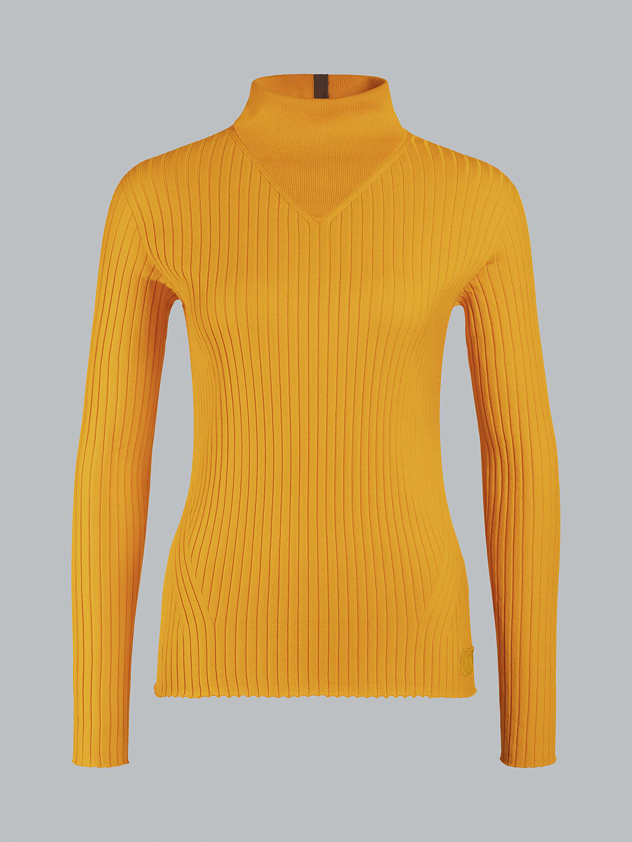 FAXEE V1.Y5.02 Seamless 3D Knit Mock-Neck Jumper yellow Back Alpha Tauri