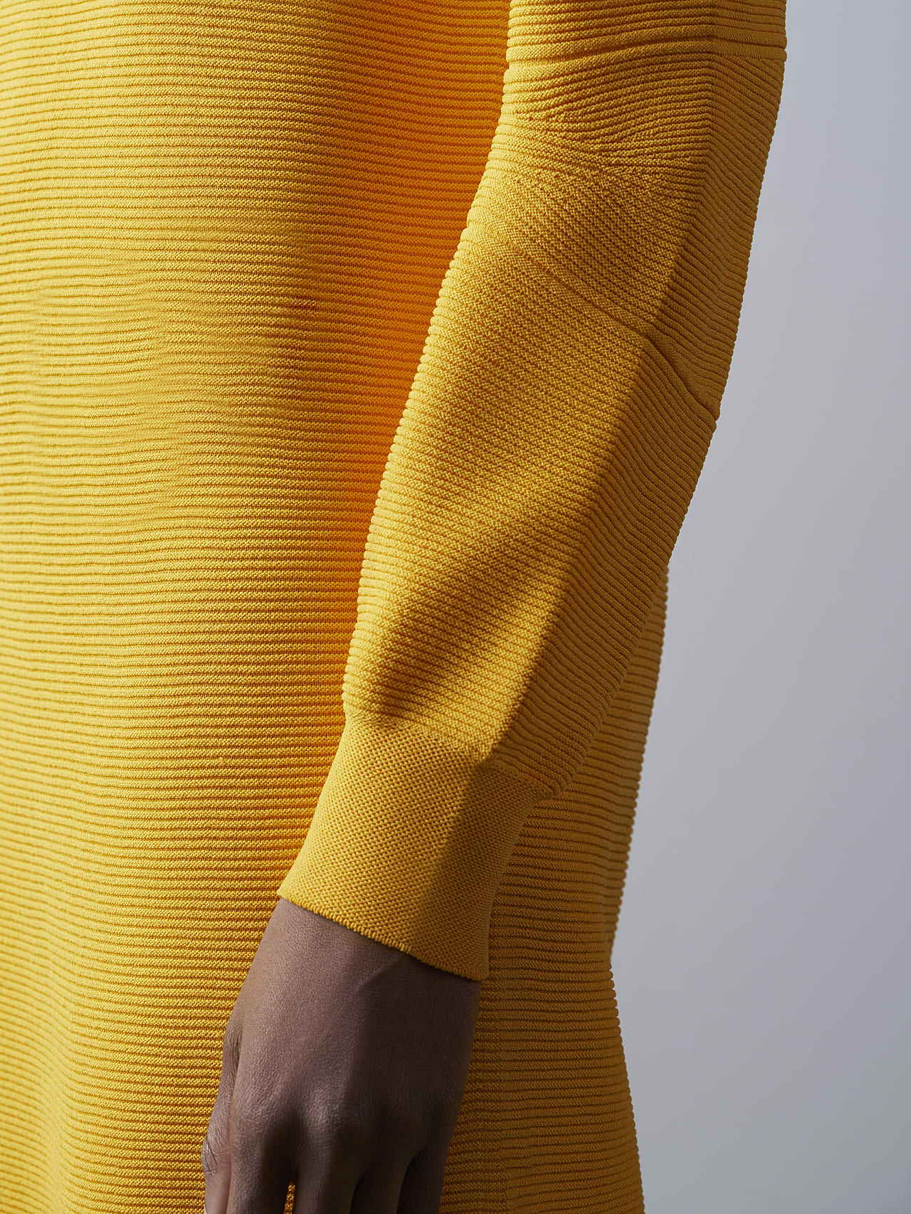 FOXEE V1.Y5.02 Seamless 3D Knit Mock-Neck Dress yellow scene7.view.8.name Alpha Tauri