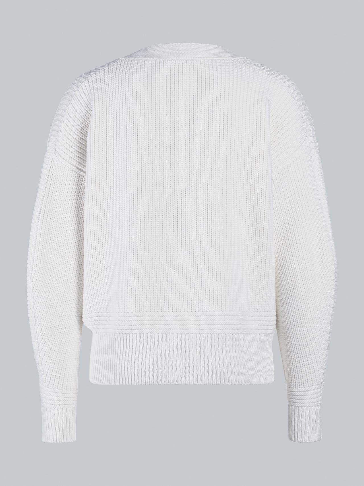 FREDA V1.Y5.02 Chunky Merino Wool Cardigan offwhite Left Alpha Tauri