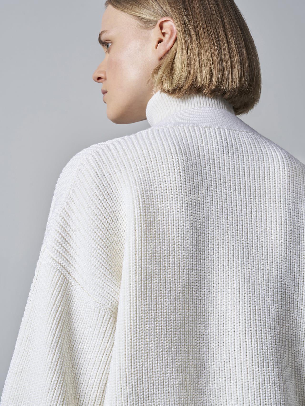 FREDA V1.Y5.02 Chunky Merino Wool Cardigan offwhite Extra Alpha Tauri