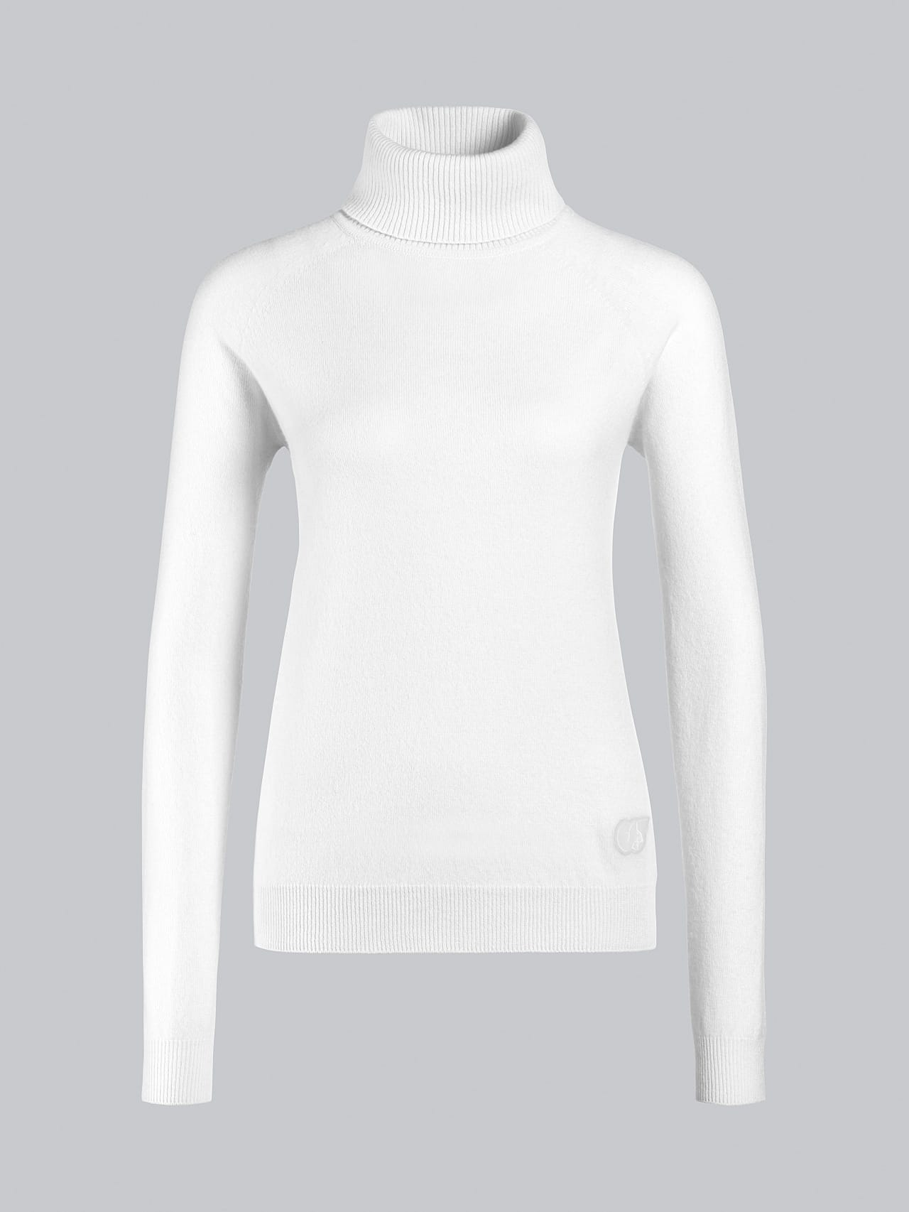 FLAMY V1.Y5.02 Seamless 3D Knit Merino-Cashmere Turtle Neck offwhite Back Alpha Tauri