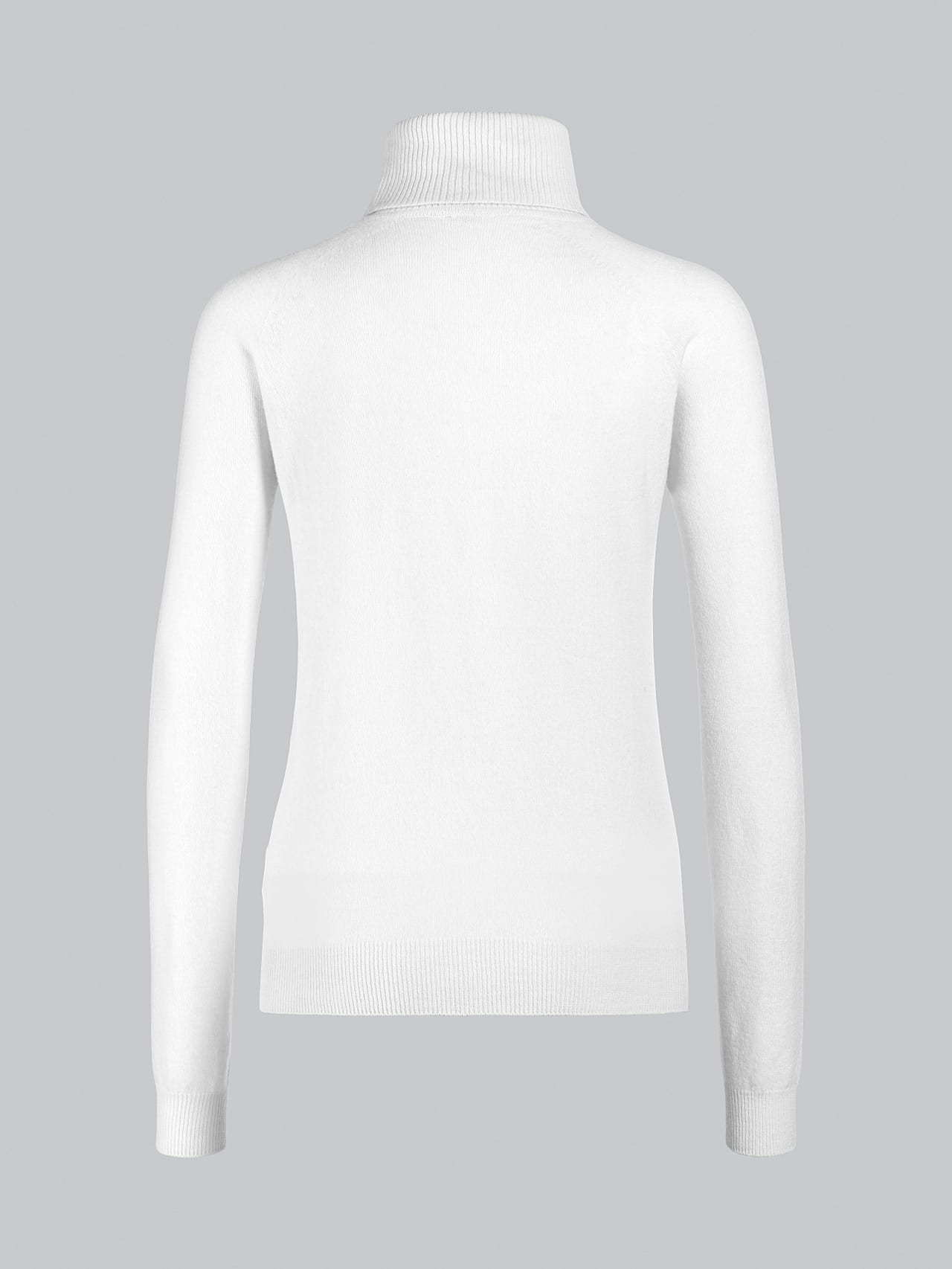 FLAMY V1.Y5.02 Seamless 3D Knit Merino-Cashmere Turtle Neck offwhite Left Alpha Tauri
