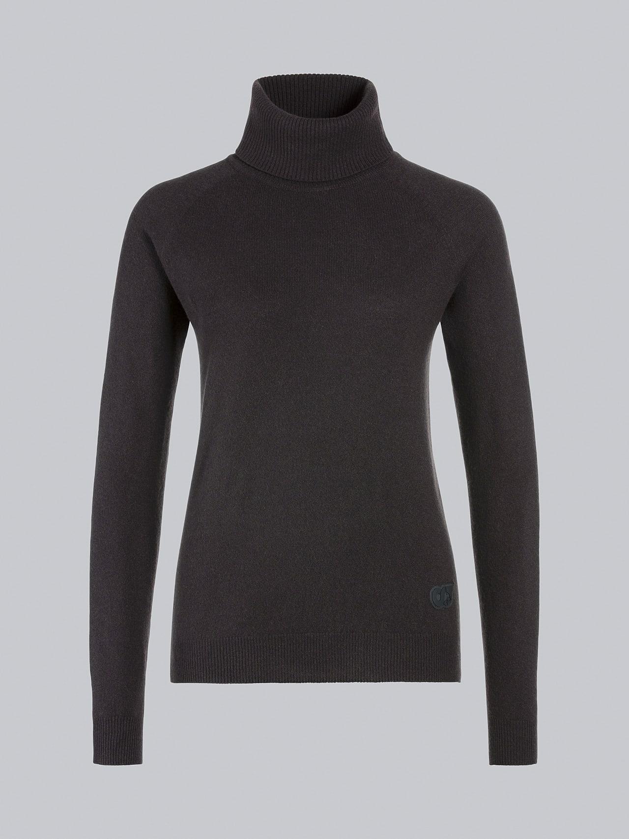 FLAMY V1.Y5.02 Seamless 3D Knit Merino-Cashmere Turtle Neck Burgundy Back Alpha Tauri