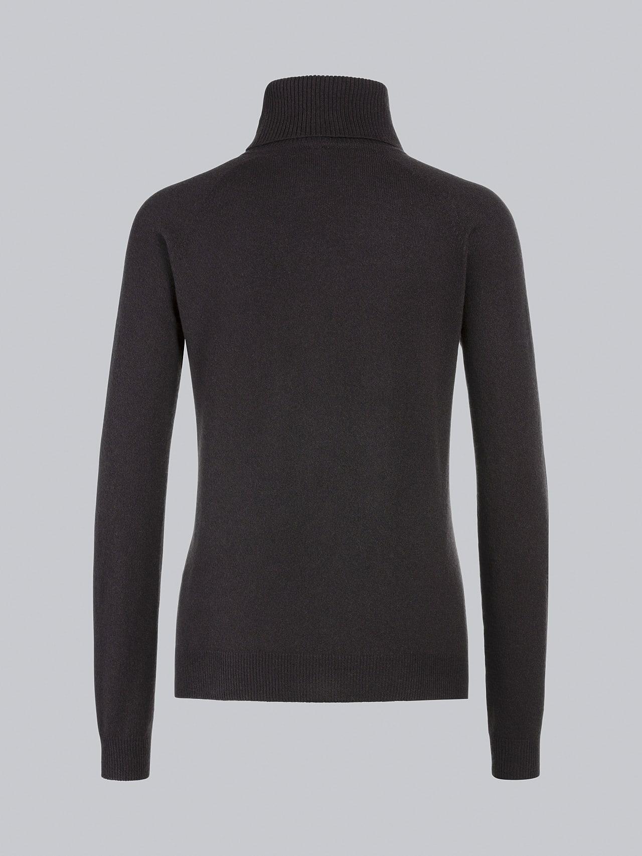 FLAMY V1.Y5.02 Seamless 3D Knit Merino-Cashmere Turtle Neck Burgundy Left Alpha Tauri