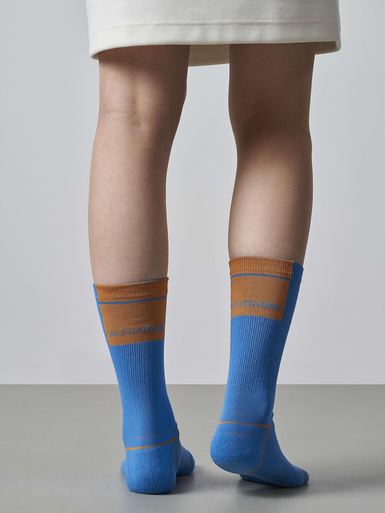 ATENI V3.Y5.02 Premium Knit Socks blue Front Main Alpha Tauri