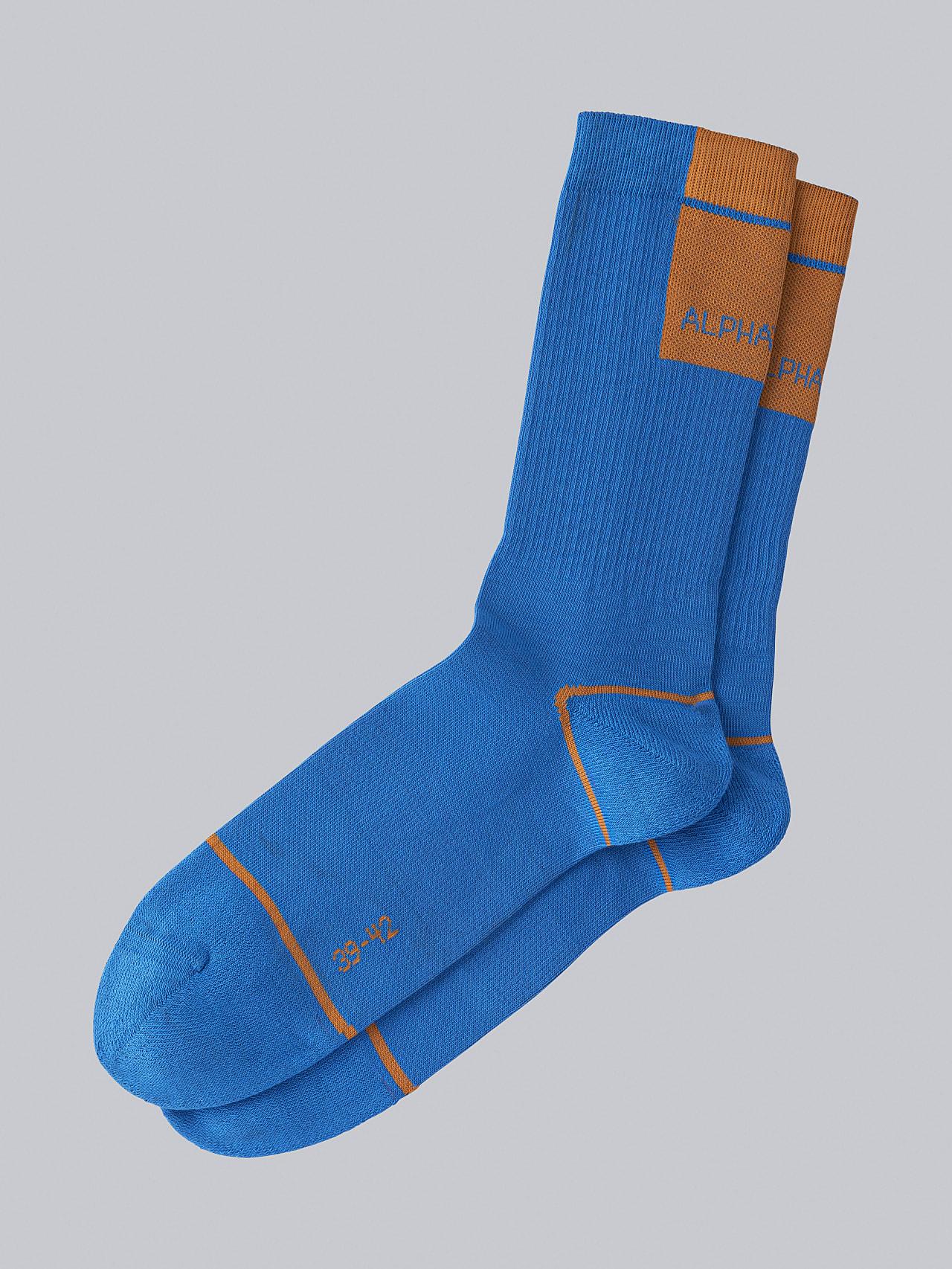 ATENI V3.Y5.02 Premium Knit Socks blue Back Alpha Tauri