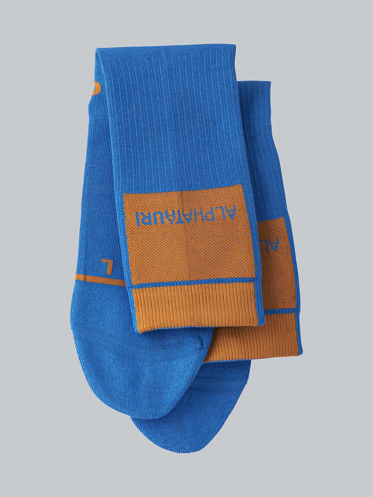 ATENI V3.Y5.02 Premium Knit Socks blue Left Alpha Tauri
