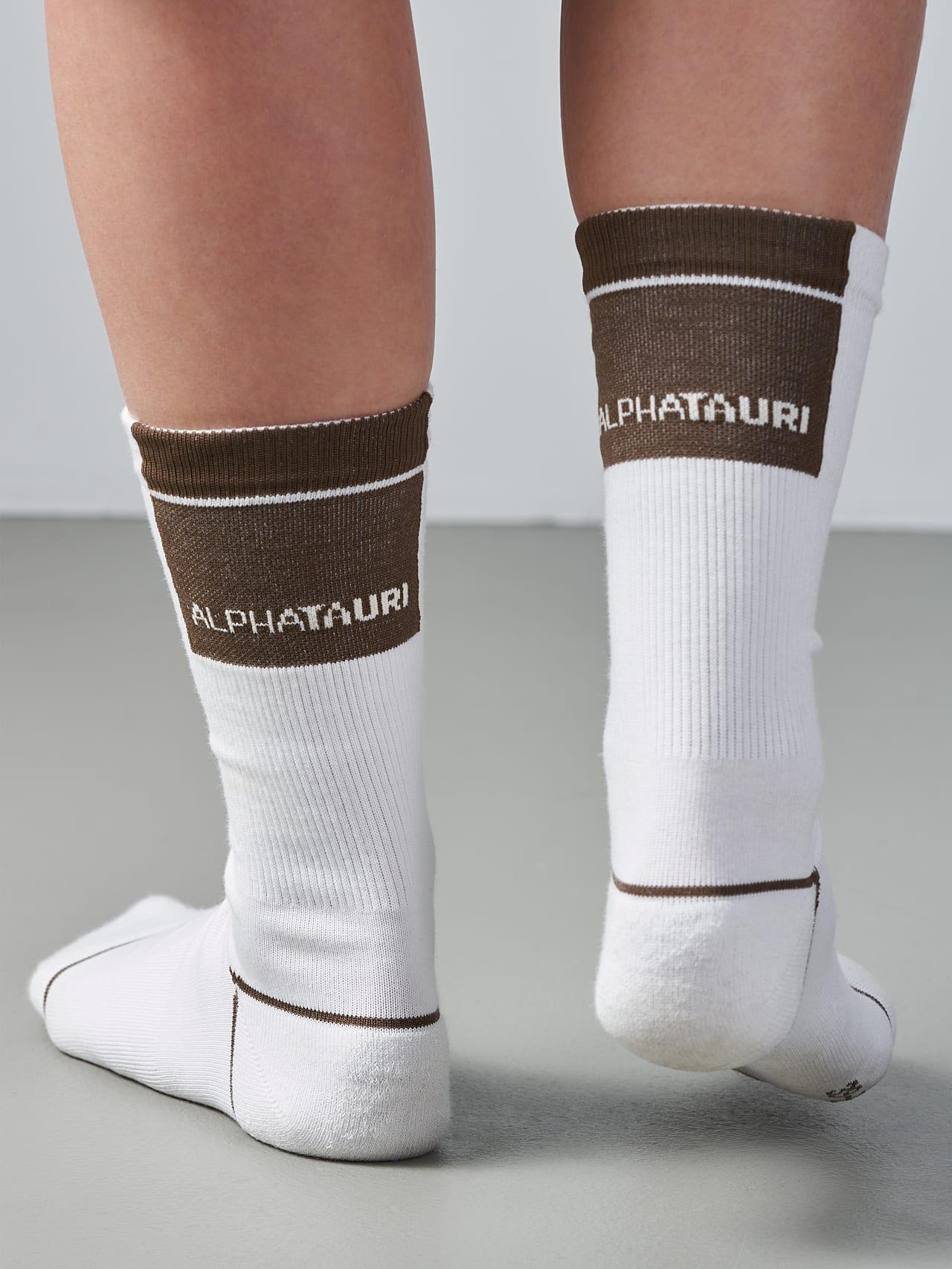 ATENI V3.Y5.02 Premium Knit Socks offwhite Model shot Alpha Tauri