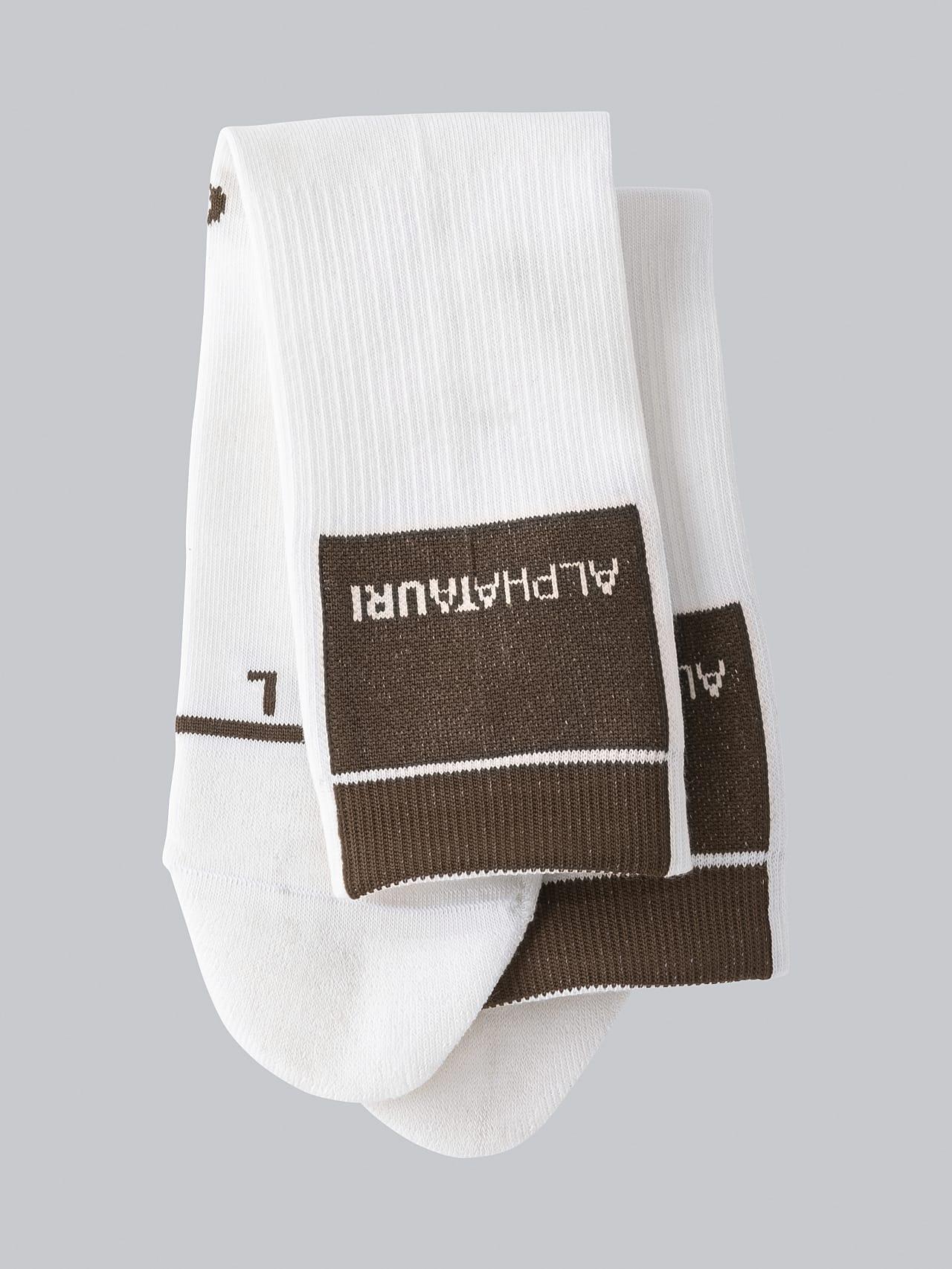 ATENI V3.Y5.02 Premium Knit Socks offwhite Left Alpha Tauri