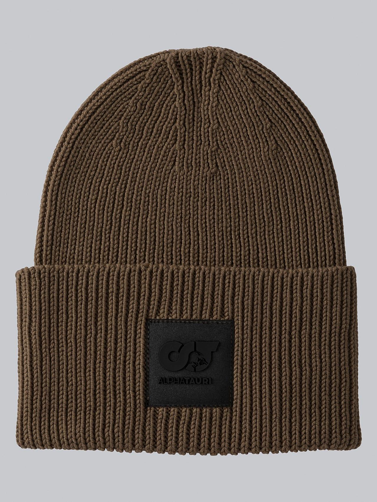 AHRAF V1.Y5.02 Unisex Rib Knit Wool Beanie gold Back Alpha Tauri