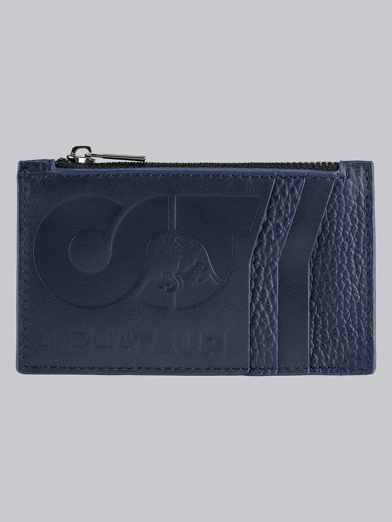 ACETA V1.Y5.02 Leather Cardholder navy Back Alpha Tauri
