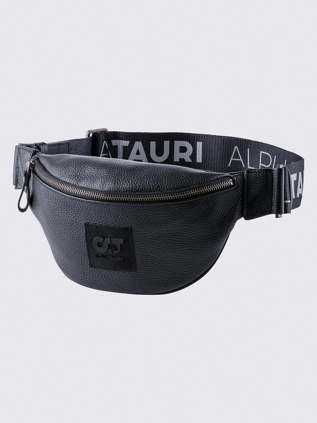 AFABA V2.Y5.02 Leather Crossbody Bag black Back Alpha Tauri