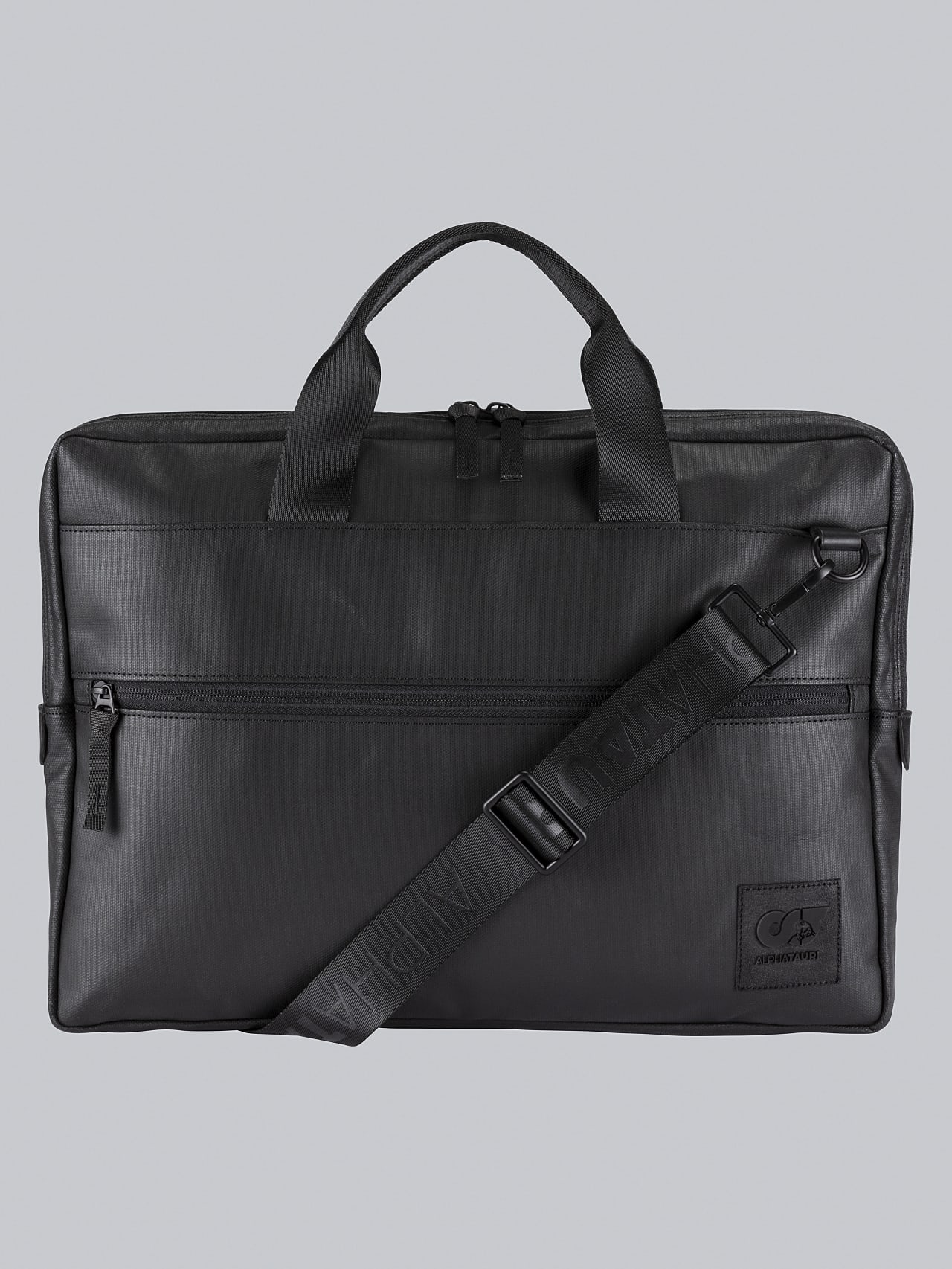 ABELO V1.Y5.02 Leather Laptop Bag dark grey / anthracite Back Alpha Tauri