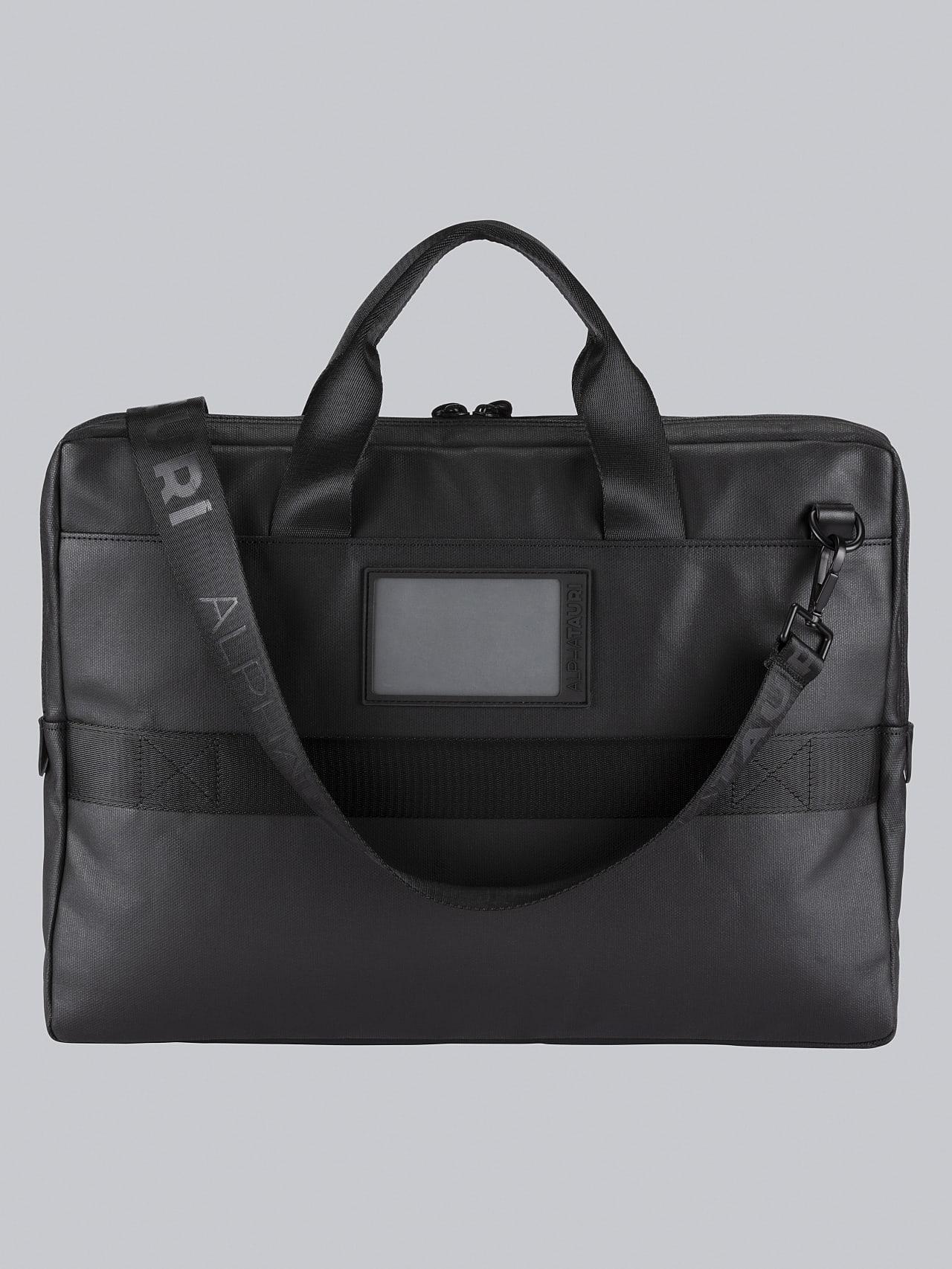 ABELO V1.Y5.02 Leather Laptop Bag dark grey / anthracite Left Alpha Tauri