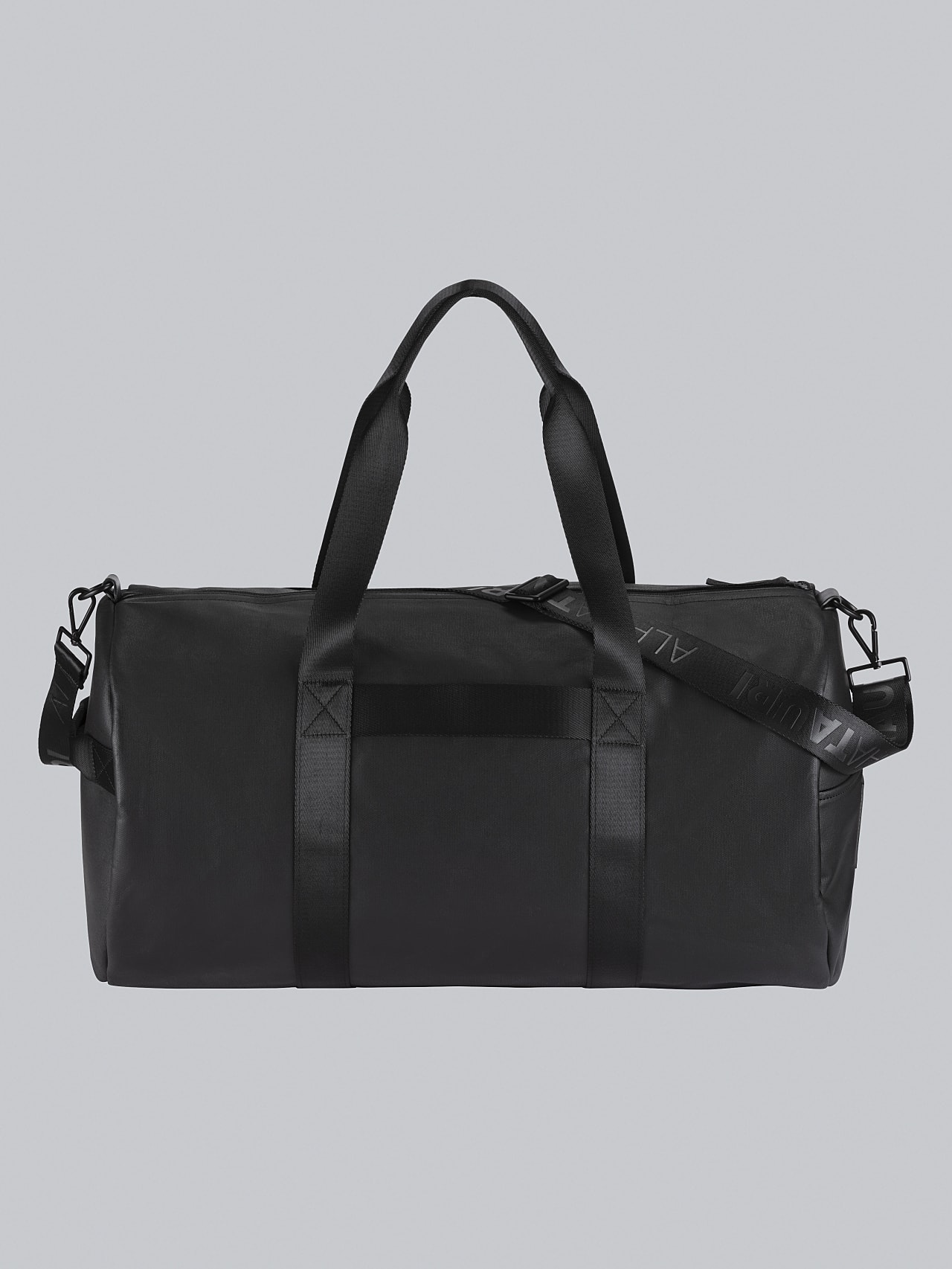 AWEE V4.Y5.02 Water-Repellent Duffle Bag dark grey / anthracite Left Alpha Tauri