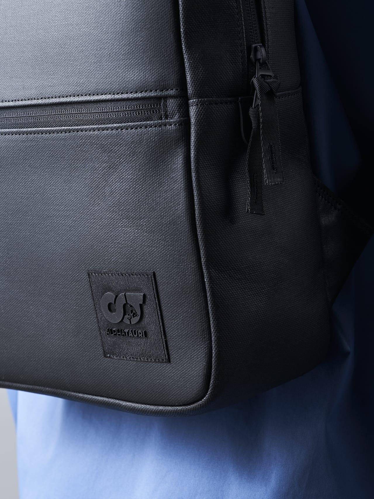 AREKK V2.Y5.02 Water-Repellent Backpack dark grey / anthracite Front Alpha Tauri