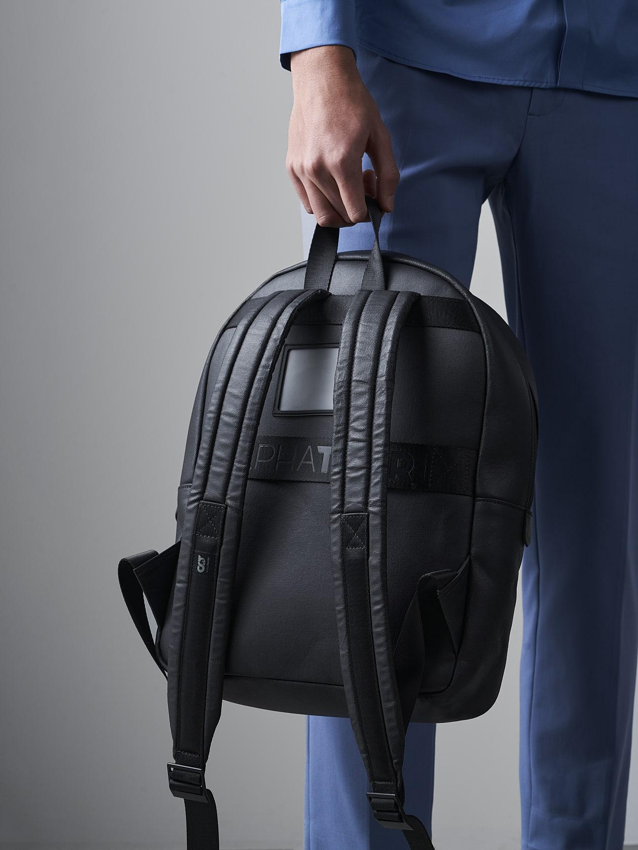 AREKK V2.Y5.02 Water-Repellent Backpack dark grey / anthracite Right Alpha Tauri