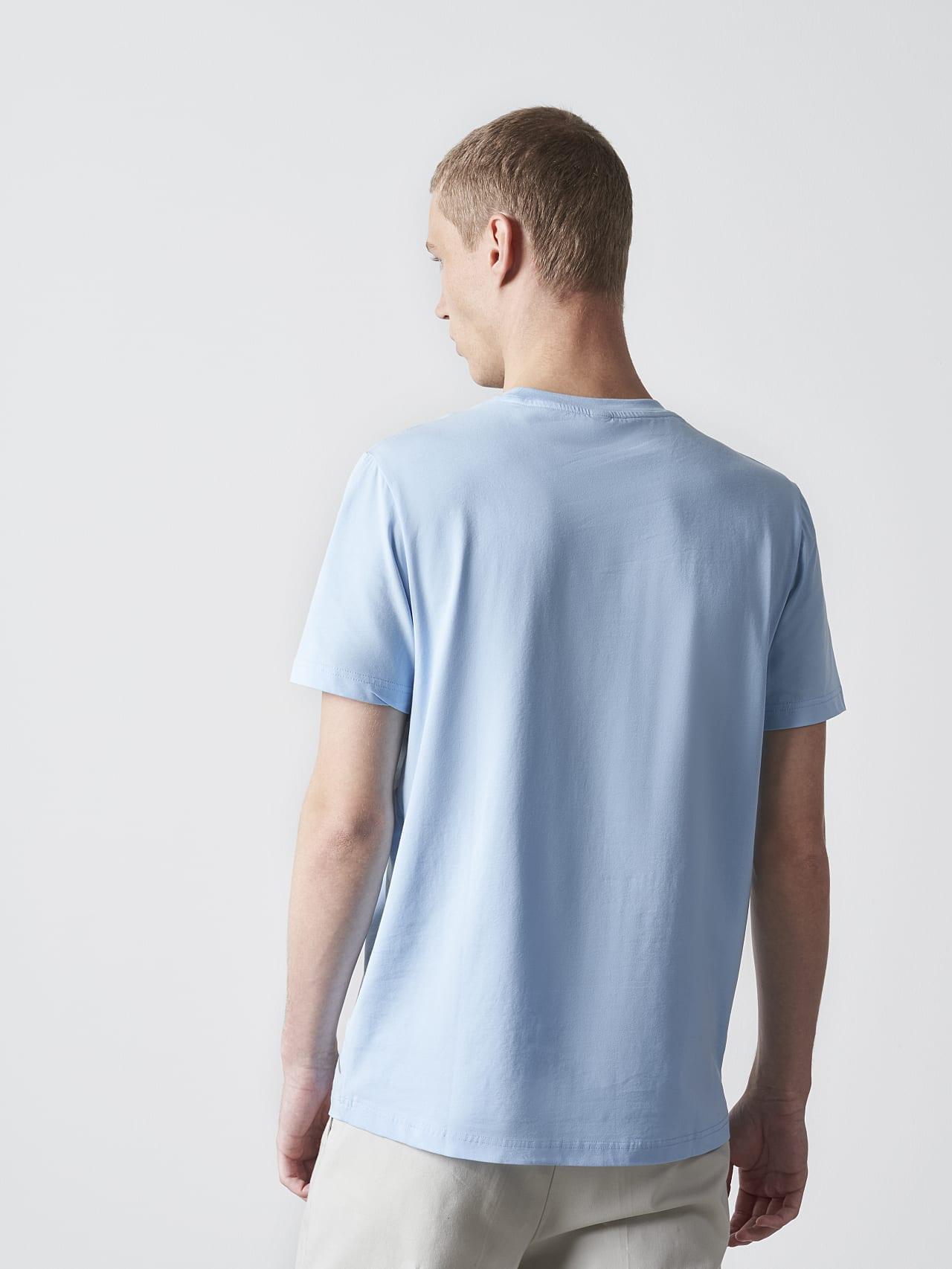 JERO V2.Y4.02 Signature Logo T-Shirt light blue Front Main Alpha Tauri