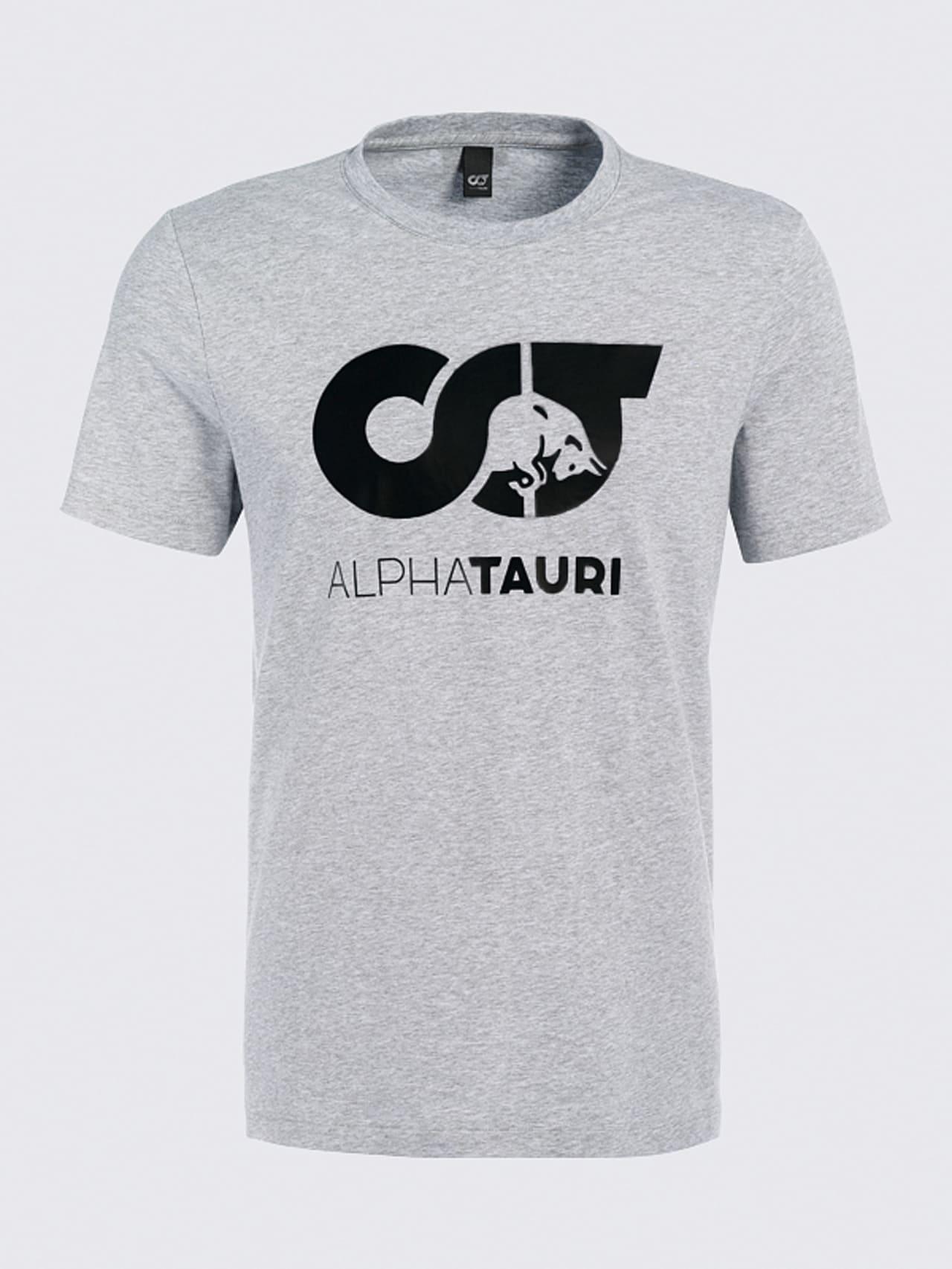 JERO V2.Y4.02 Signature Logo T-Shirt grey / melange Back Alpha Tauri
