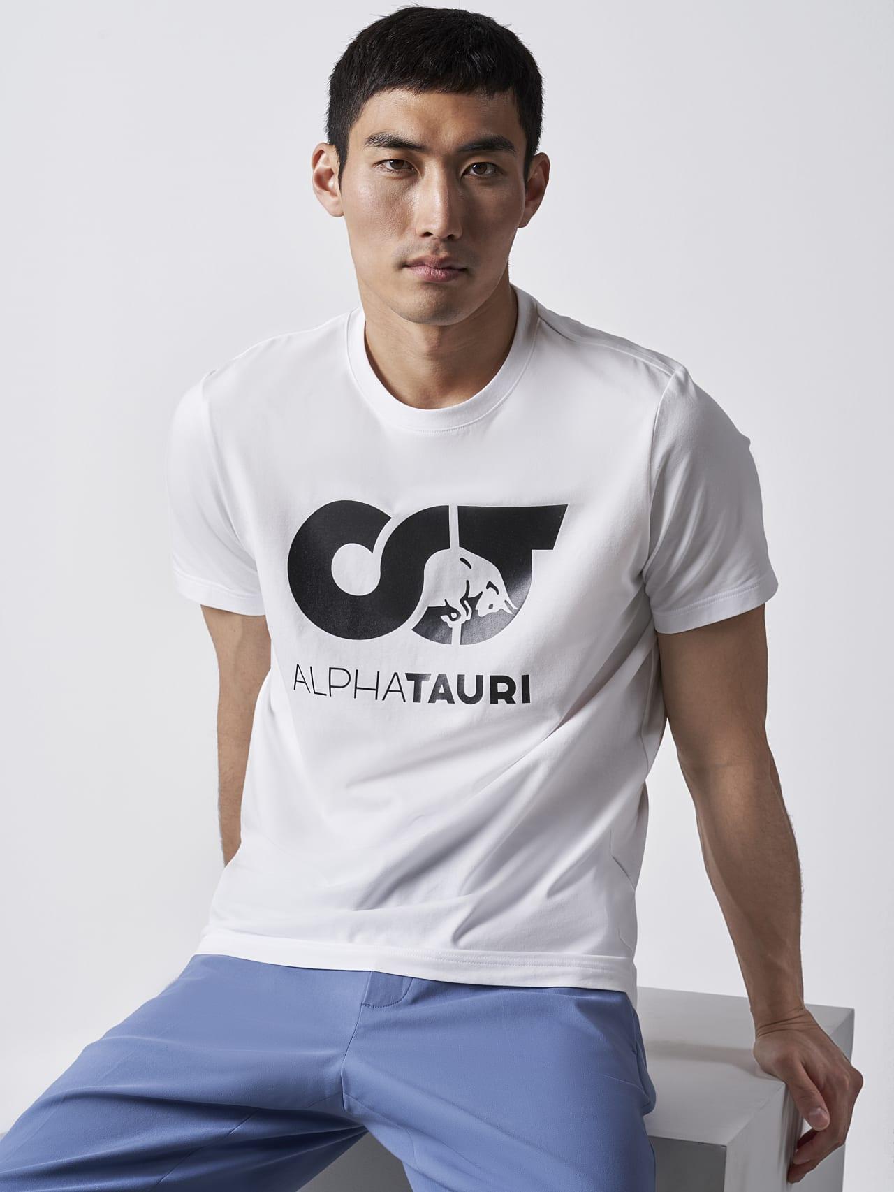 JERO V2.Y4.02 Signature Logo T-Shirt white Right Alpha Tauri