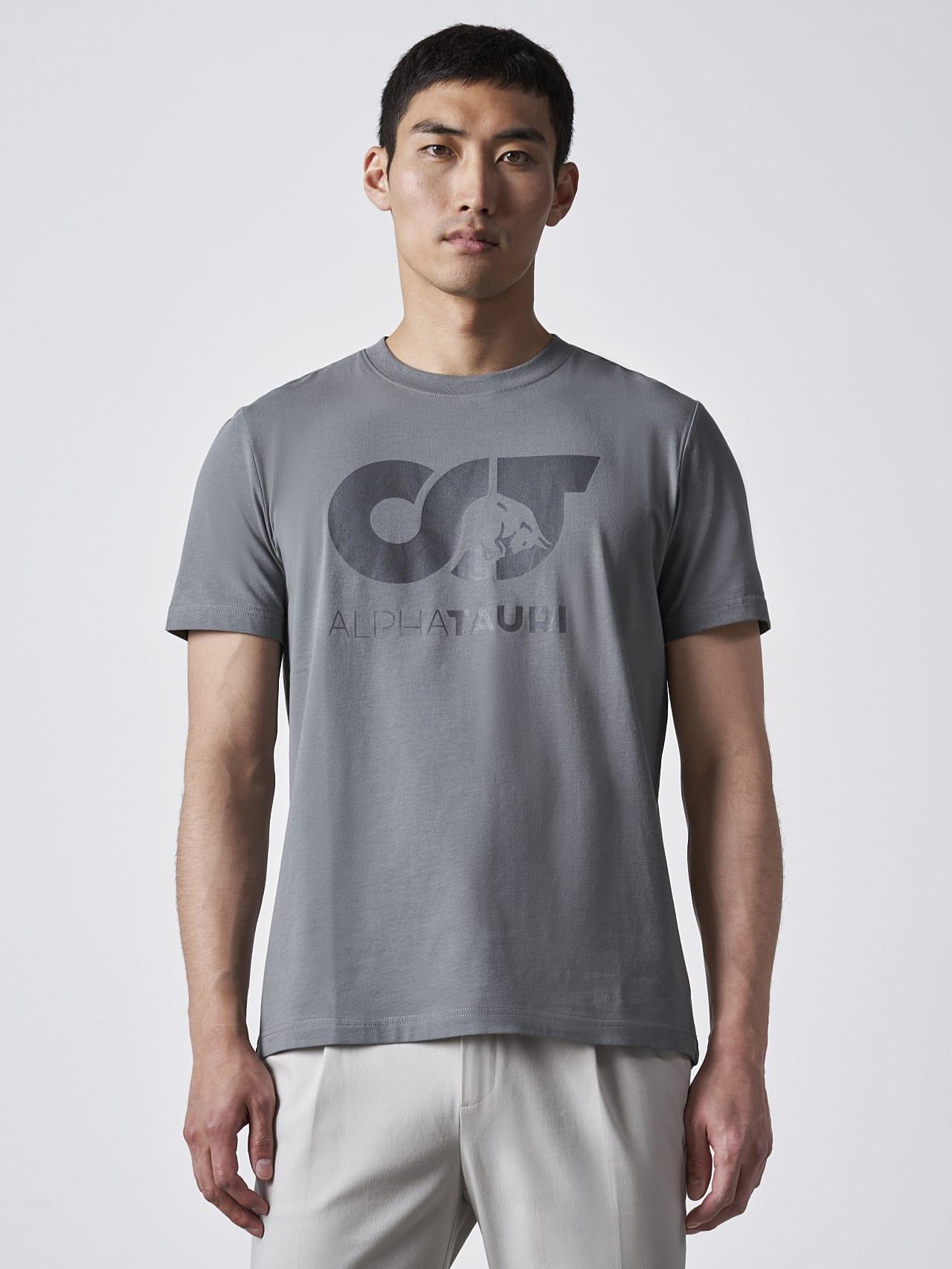 JERO V2.Y4.02 Signature Logo T-Shirt Grey Model shot Alpha Tauri